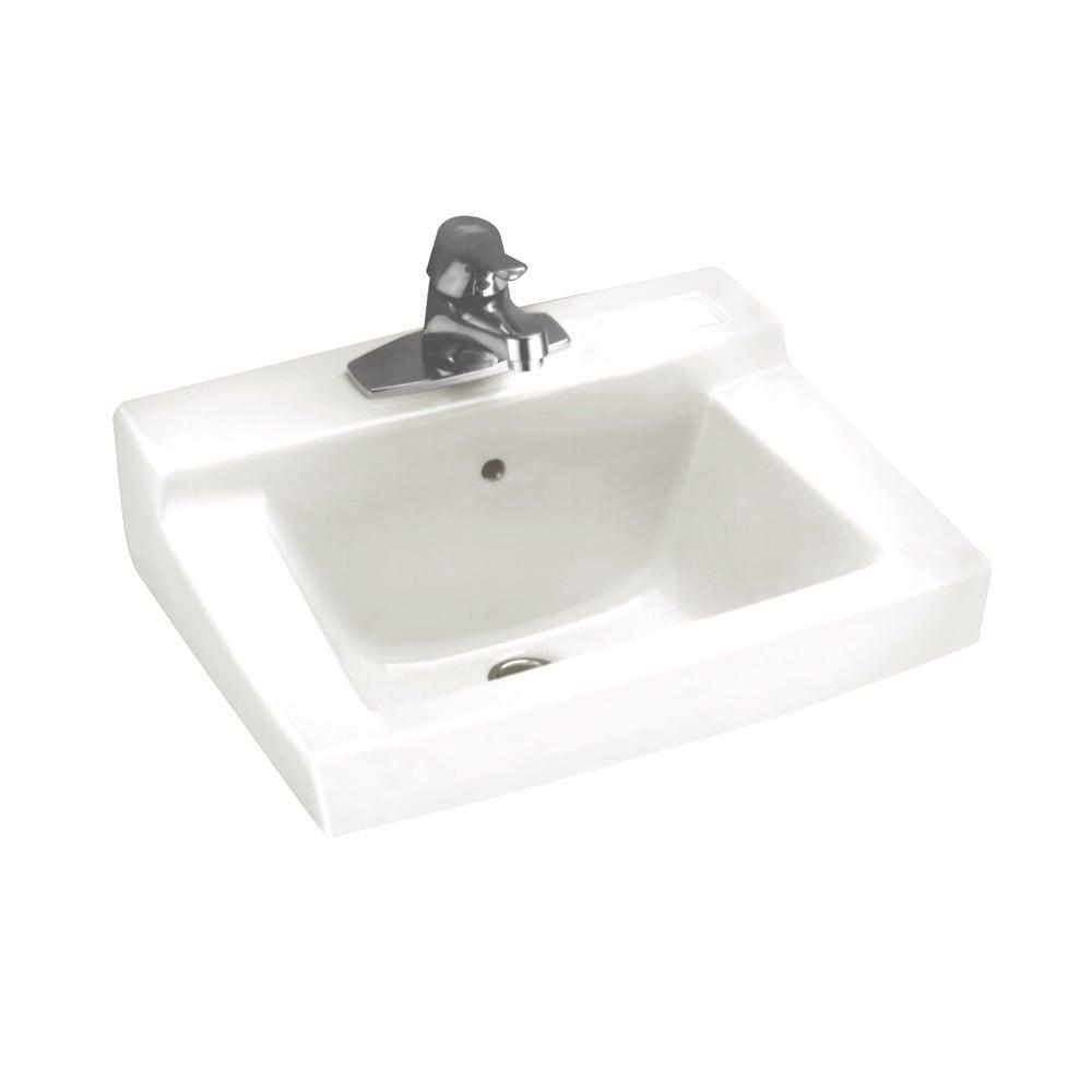 Shop American Standard Boxe White Fireclay Drop-In Bathroom Sink ...