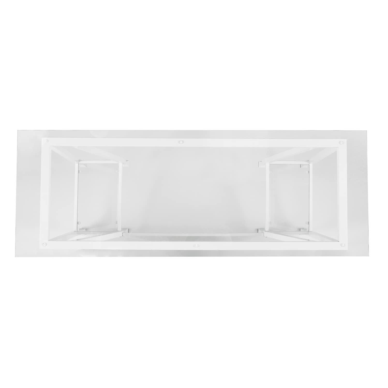 Harper Blvd Jensen Metal/Glass A-Frame Writing Desk - White - Free ...