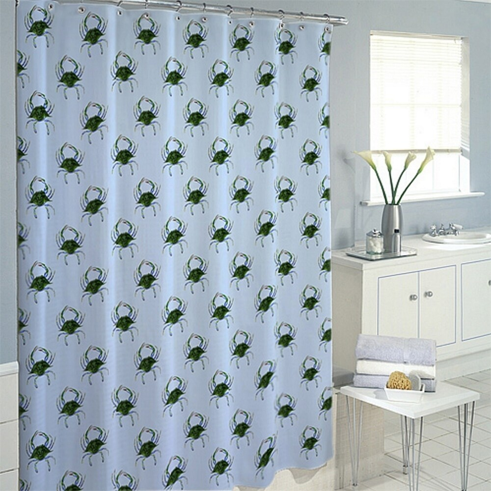 Shop Female Blue Crab Shower Curtain - Free Shipping Today ...