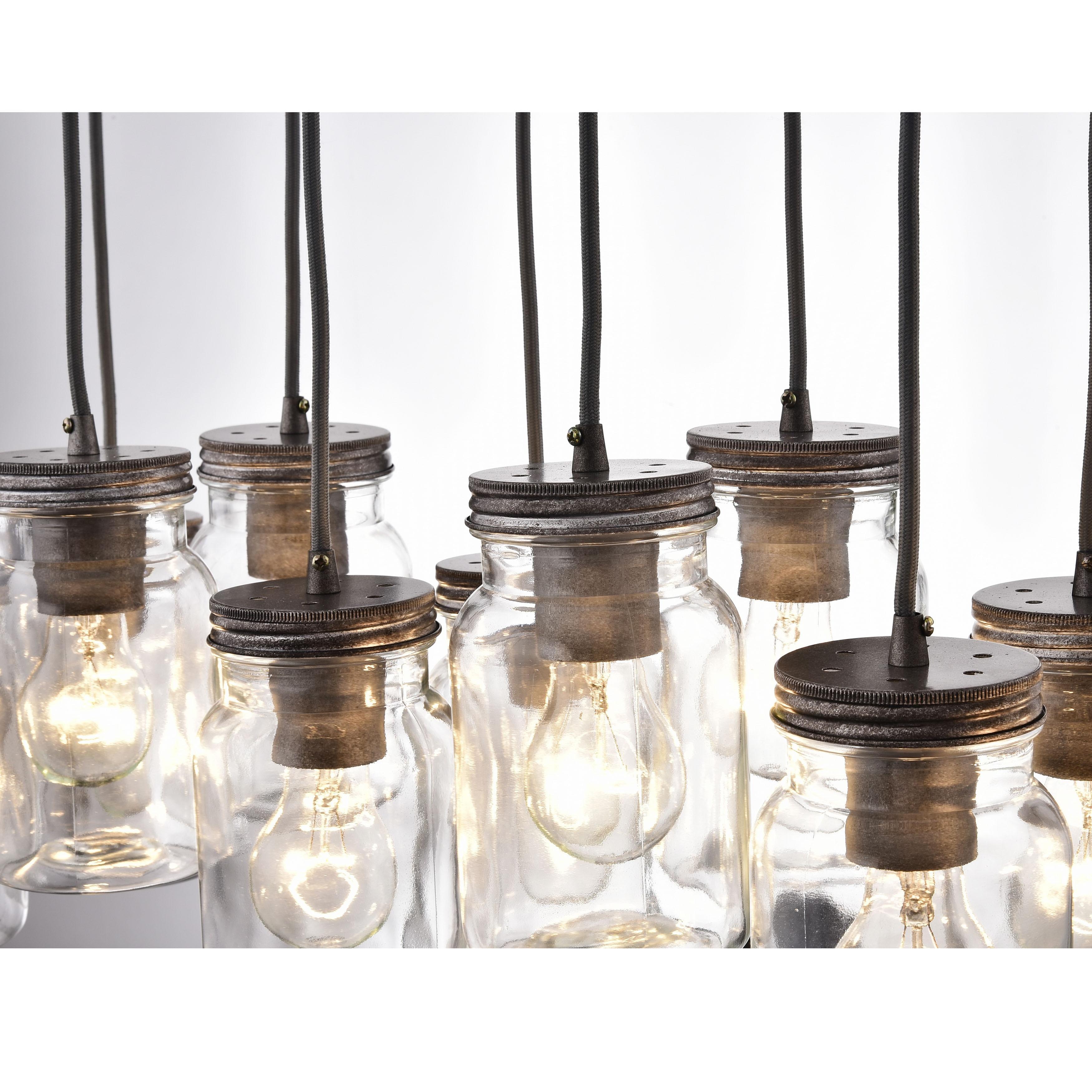 UNIQUE Mason Jar Light Chandelier Pendant Ceiling 7 Jars VINTAGE look.  $280.00, via Etsy. | Our home + | Pinterest | Mason jar lighting, Jar lights  and ...