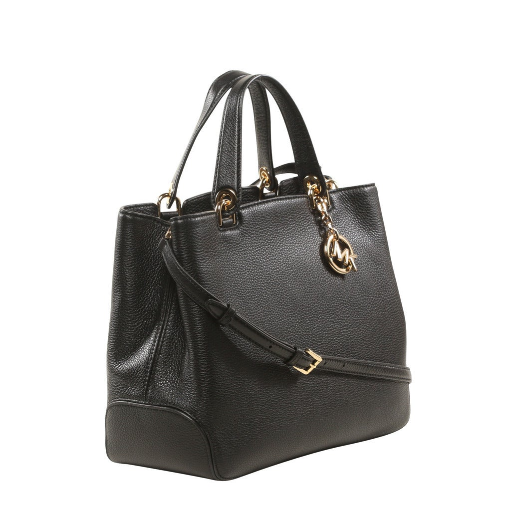 0aaa7bccf4e9 Shop Michael Kors Anabelle Large Black Top Zip Tote Bag - Free Shipping  Today - Overstock - 14607095