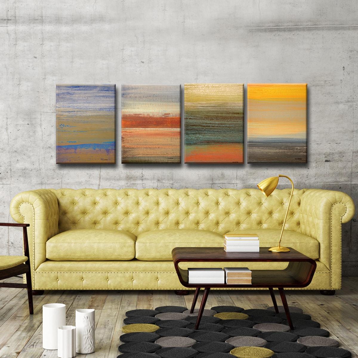 Shop Ready2HangArt 4 Piece Wall Art Set (18 x 48) \'Destiny I-IV\' by ...