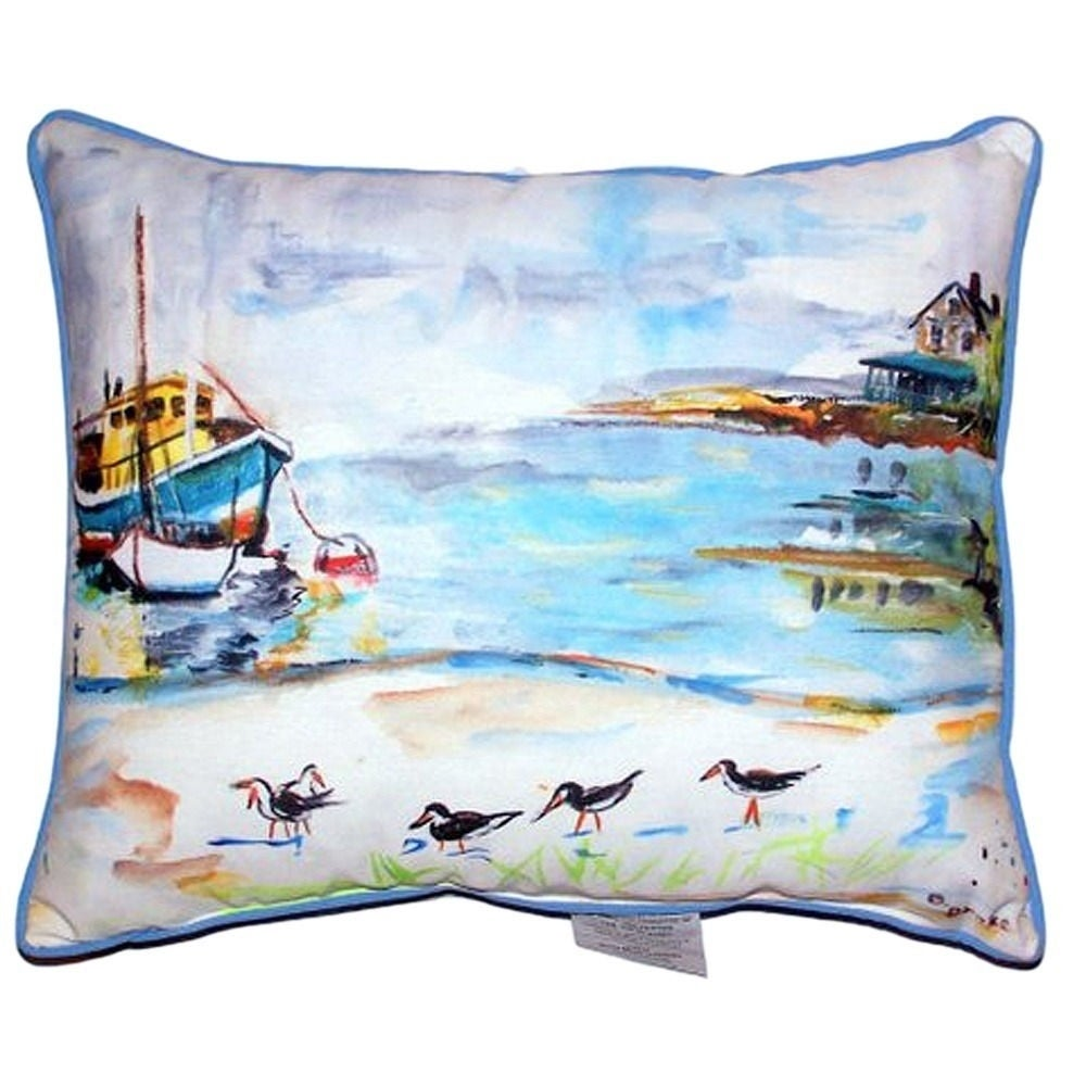 Shop Boat And Sandpipers Large Indoor Outdoor Throw Pillow Free