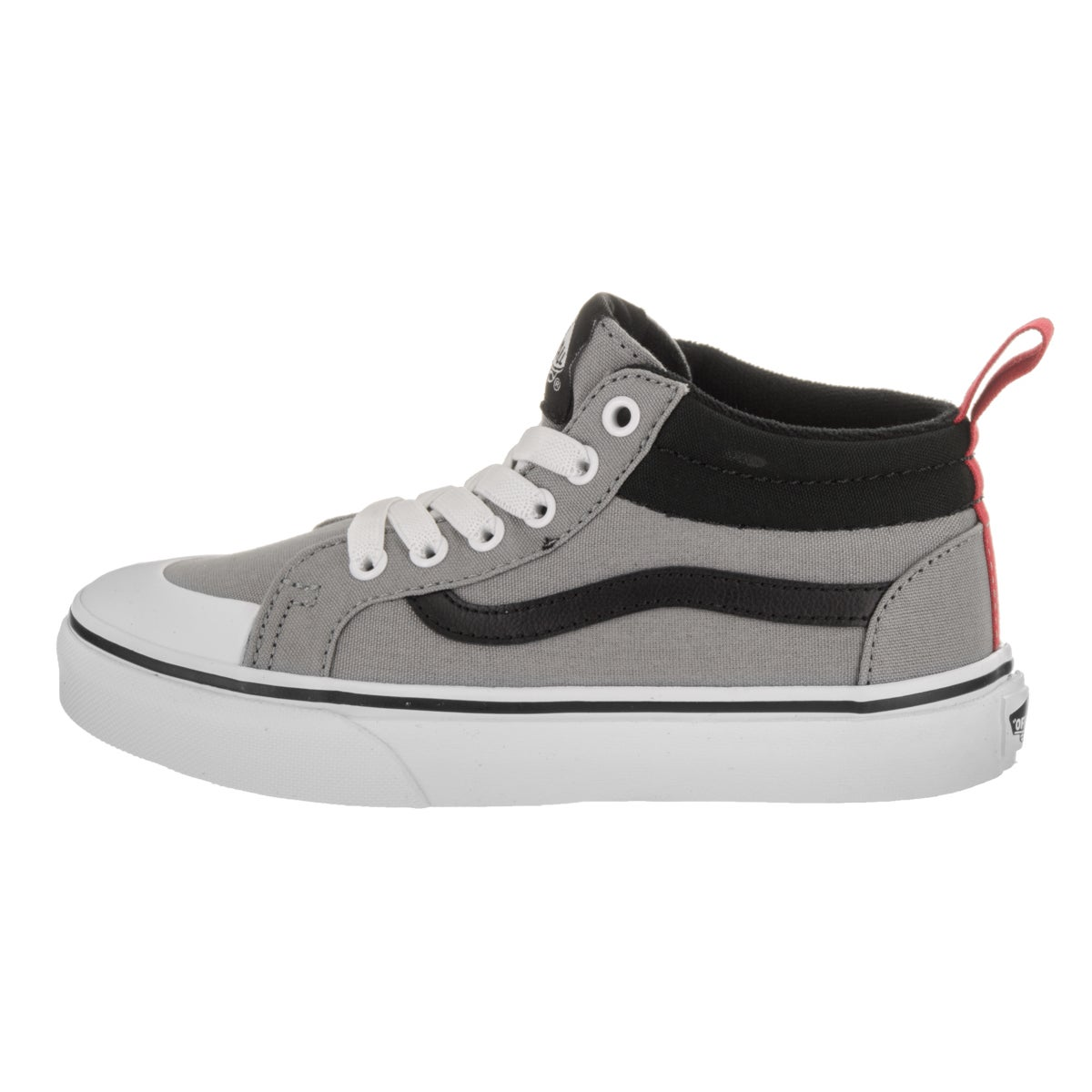 34ed7891ebeb Shop Vans Kids Racer Mid Canvas Skate Shoes - Free Shipping On ...