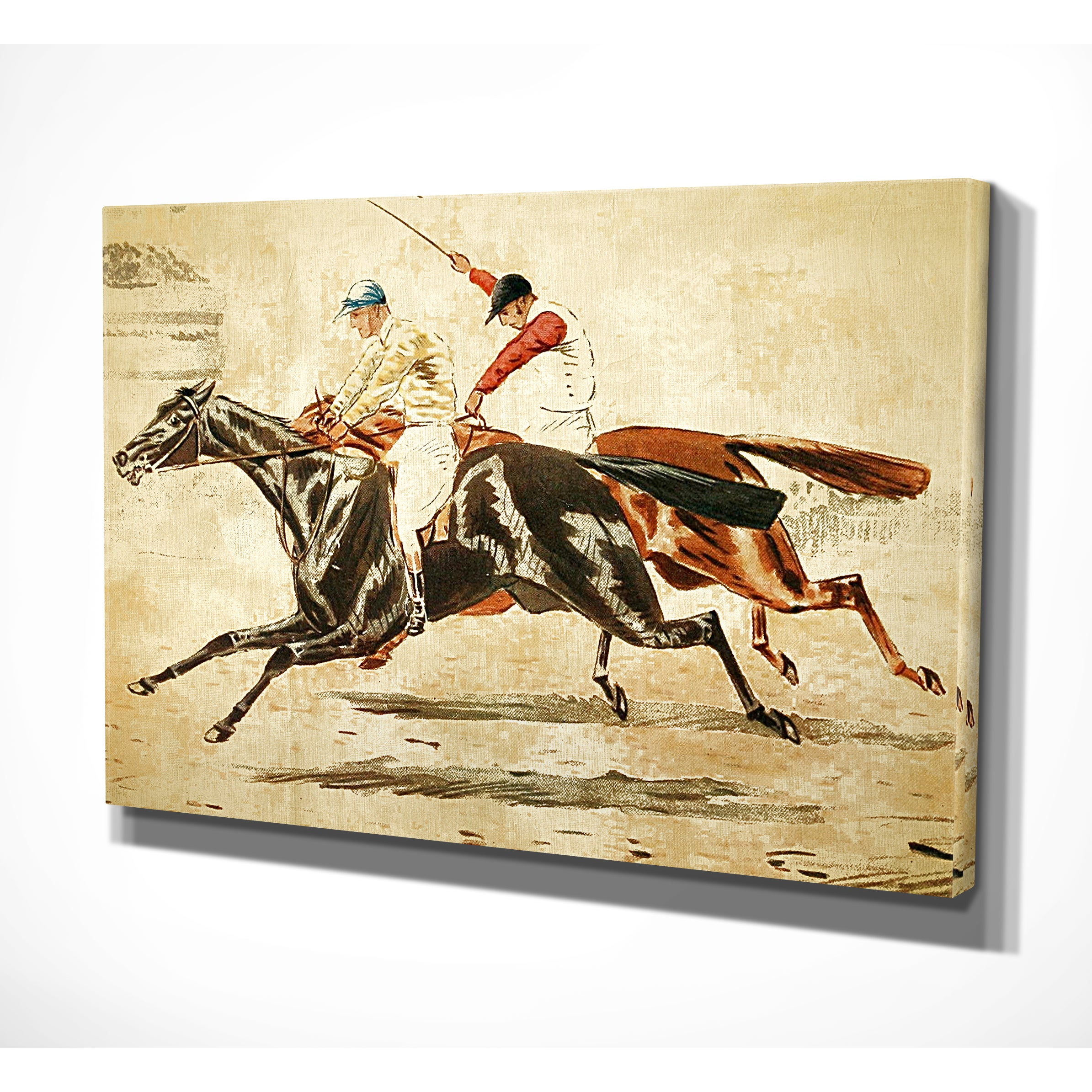 Wexford Home \'Equine Sketch V\' Canvas Wall Art - Free Shipping Today ...