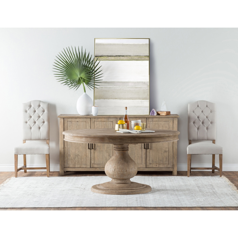 Beatriz Reclaimed Wood 60 Inch Pedestal Dining Table By Kosas Home  # Meuble De Tv En Biatrez