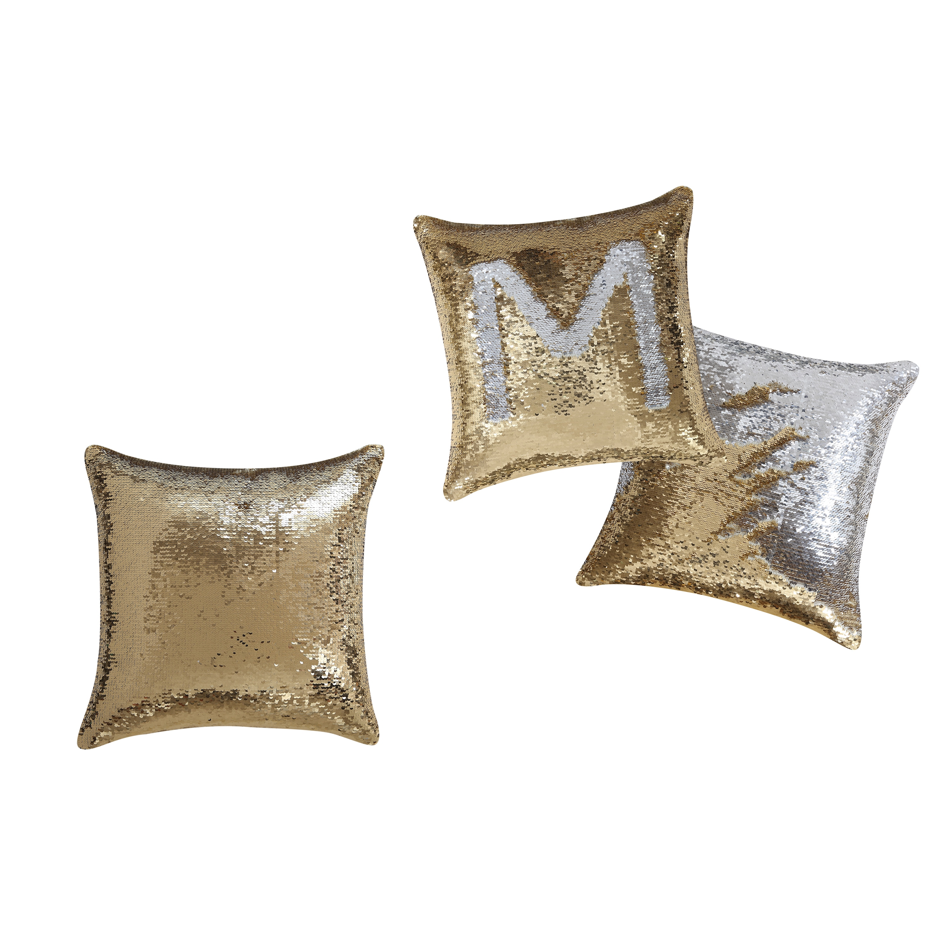 pillow silver sequins of pillows set cover pin chanel sequin throw gold