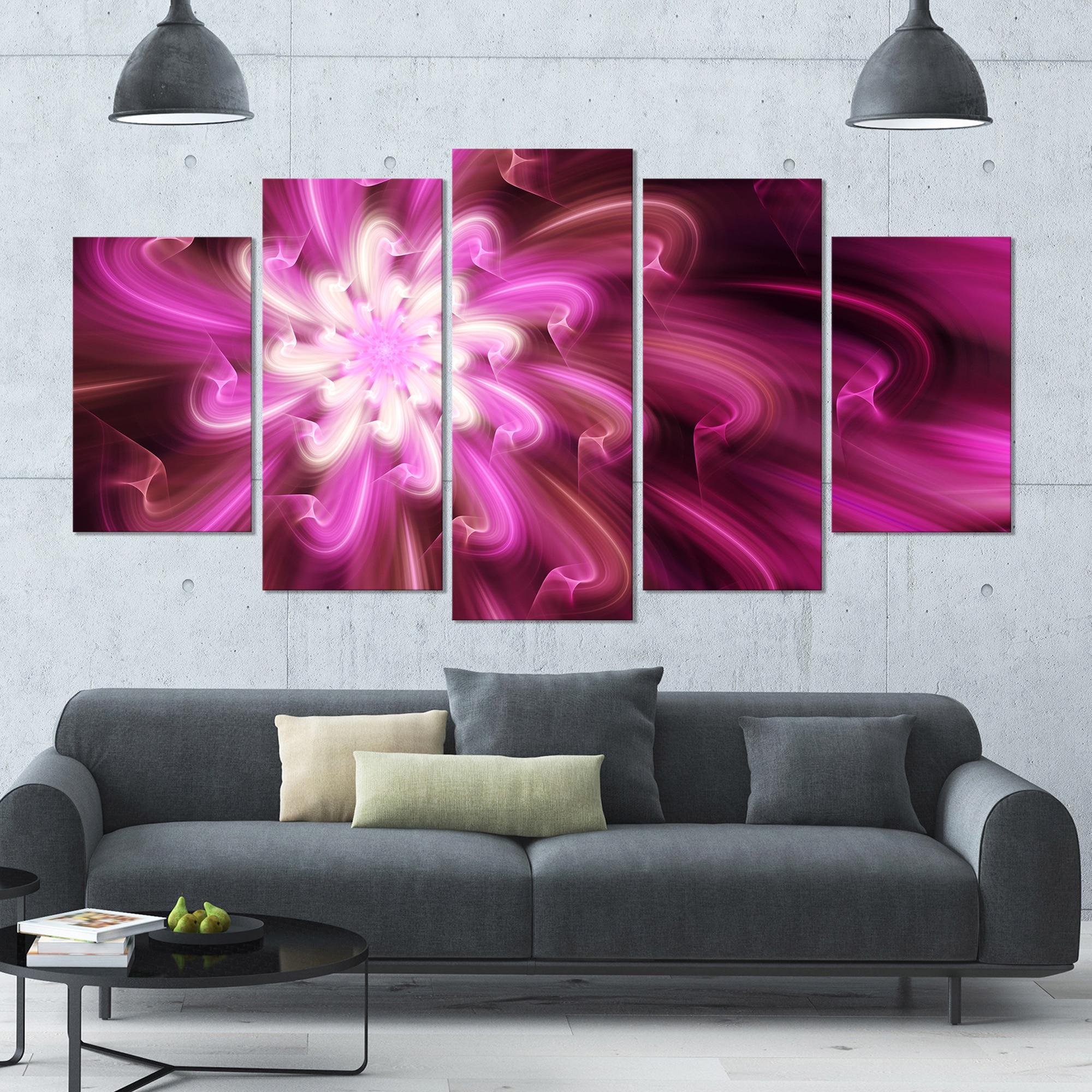 Designart Exotic Dance Of Purple Flower Petals Modern Floral