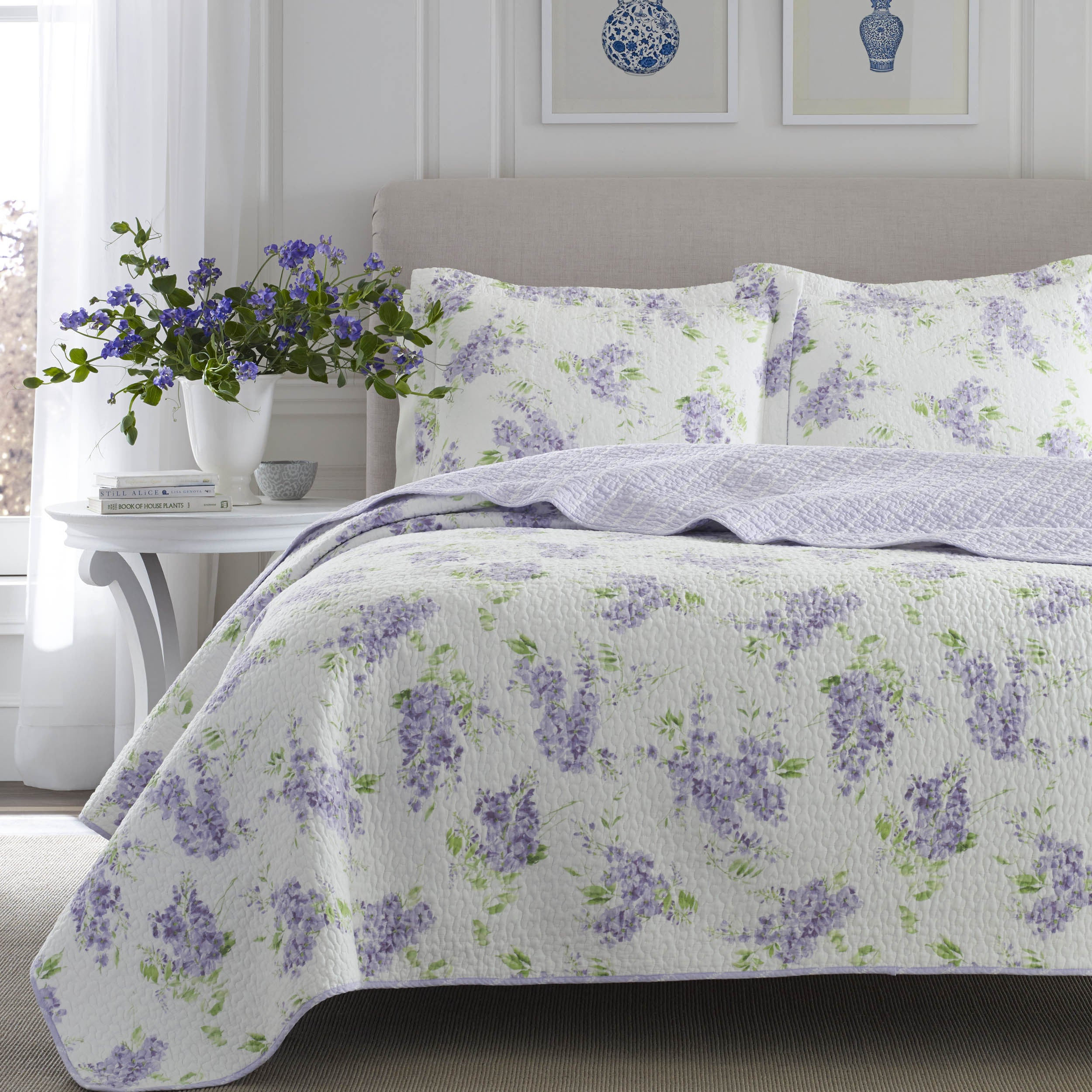 lavender fashions serenity purple bedding comforters greenland bedroom chrysanthemum stitched set quilt home