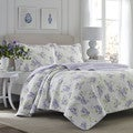 Laura Ashley Keighley Lilac Cotton 3-Piece Quilt Set