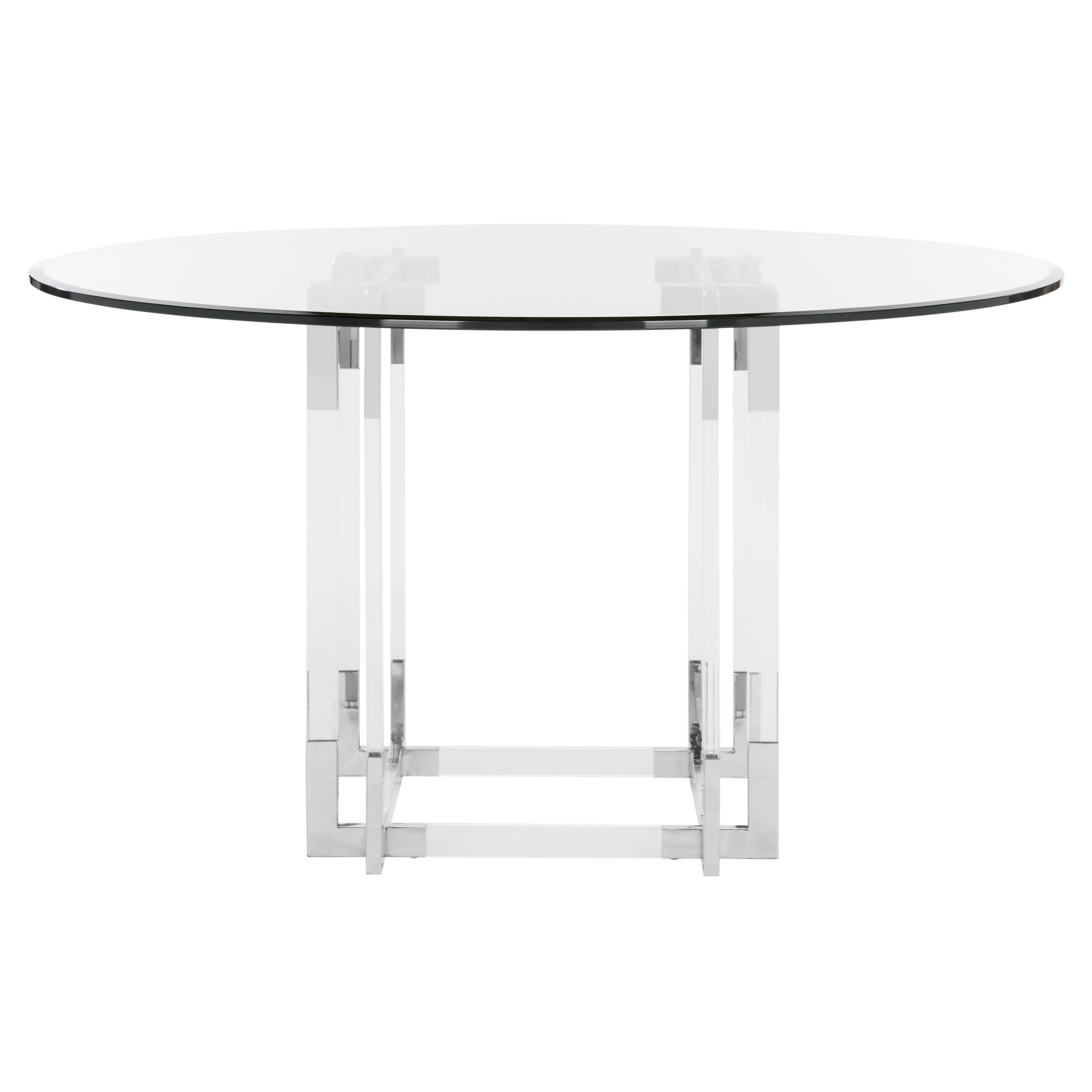 safavieh couture high line collection koryn acrylic silver dining table   free shipping today   overstock com   21174455 safavieh couture high line collection koryn acrylic silver dining      rh   overstock com