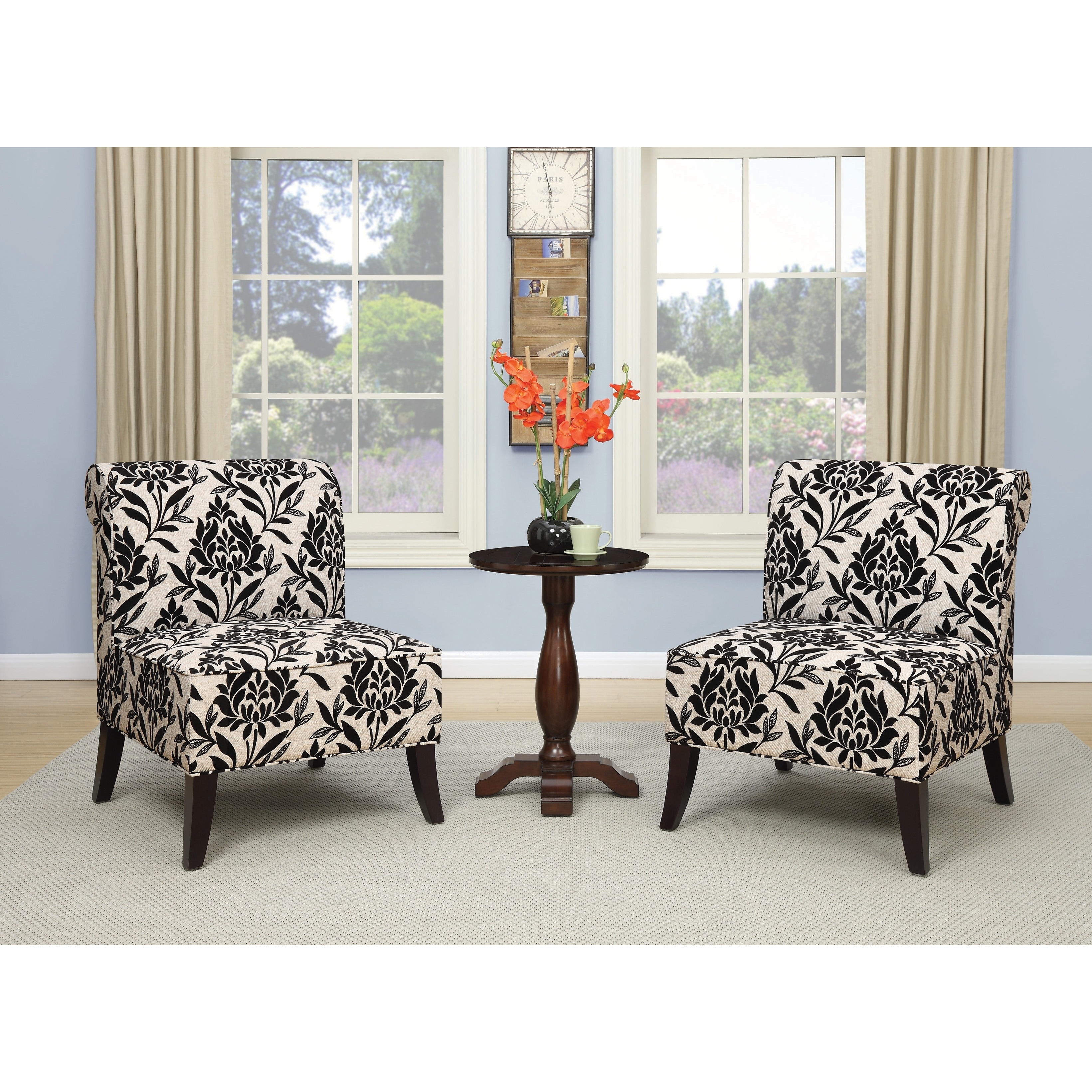 Ave Six Naomi Accent Chair with Dark Espresso Legs - Free Shipping ...