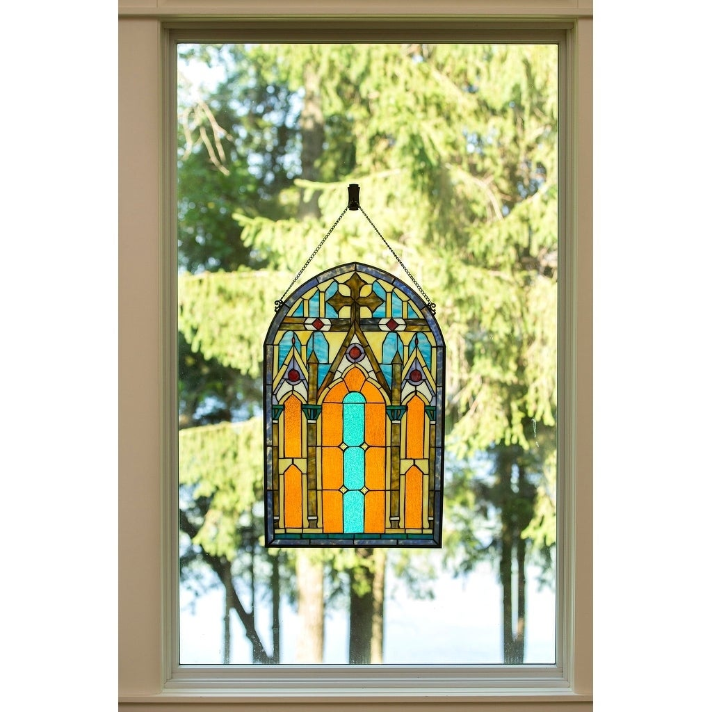 Shop Roman-style Stained Glass Cathedral 32-inch Window Panel - L ...