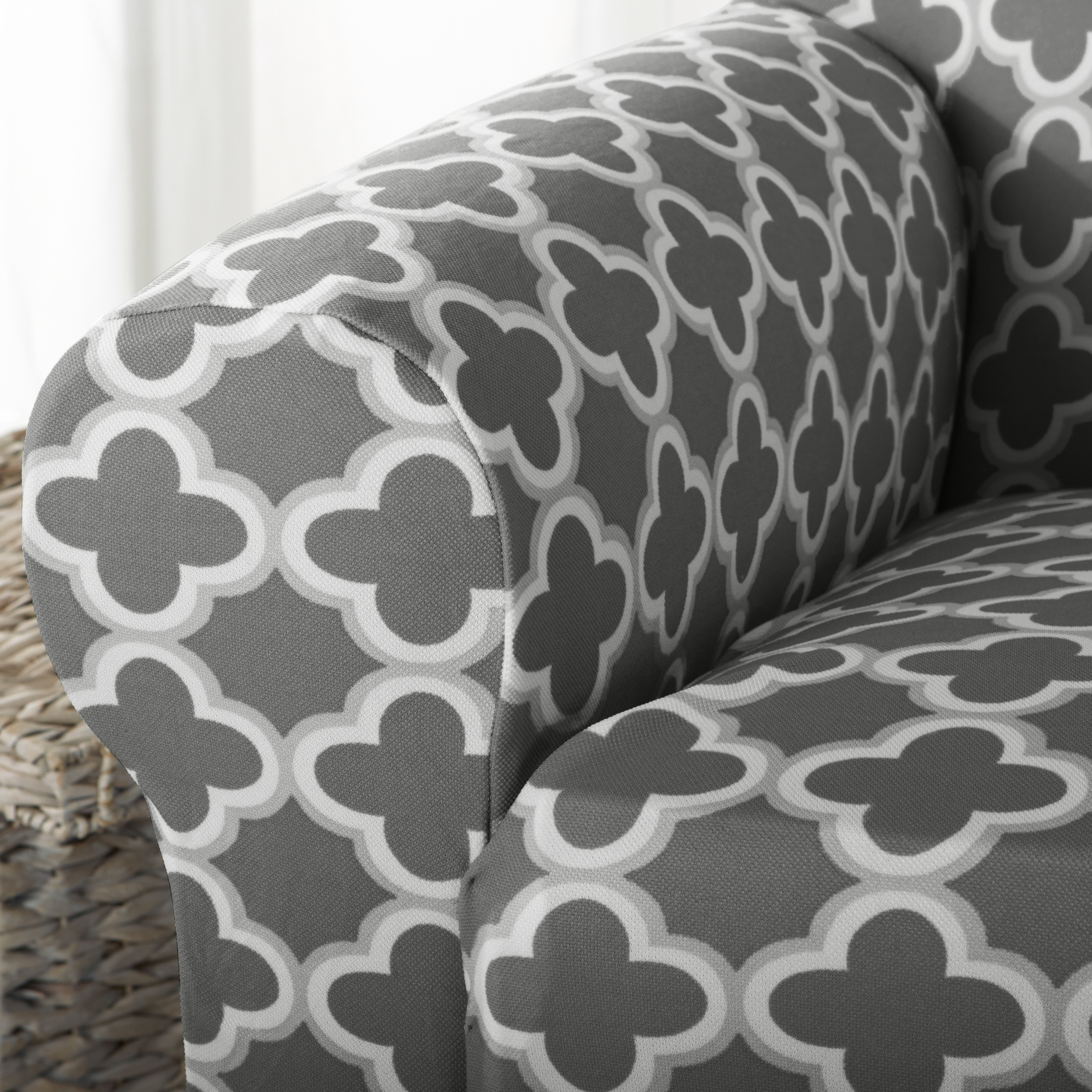 Home Fashion Designs Brenna Collection Trellis Print Stretch Form Fitted Chair  Slipcover   Free Shipping On Orders Over $45   Overstock   21177493