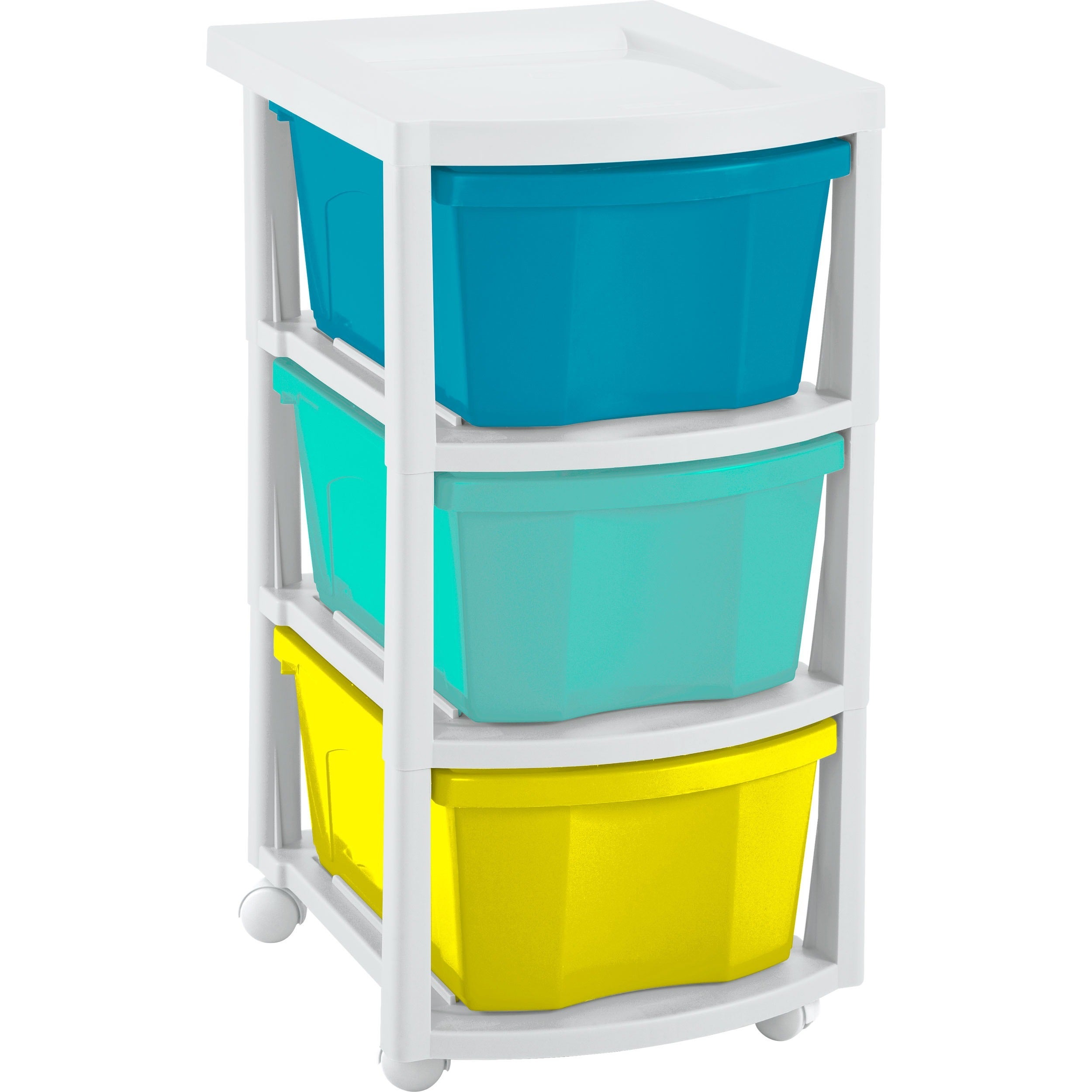 Shop Rimax Three Drawer Multi Colored Storage Cart   Free Shipping On  Orders Over $45   Overstock.com   14638843