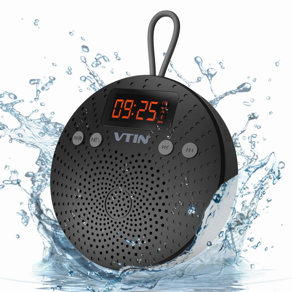 Shop Bluetooth Wireless Waterproof Shower Outdoor Speaker With FM Radio,  Alarm Clock, Suction Cup   On Sale   Free Shipping On Orders Over $45 ...