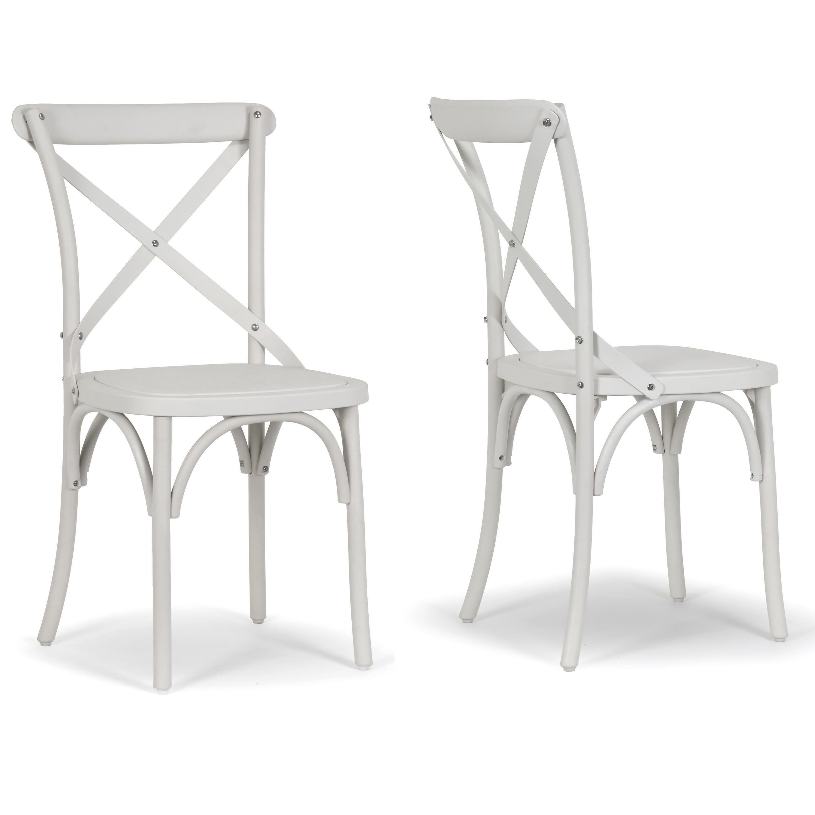 Aleah Outdoorindoor Cross Back Dining Chair (Set Of 2)