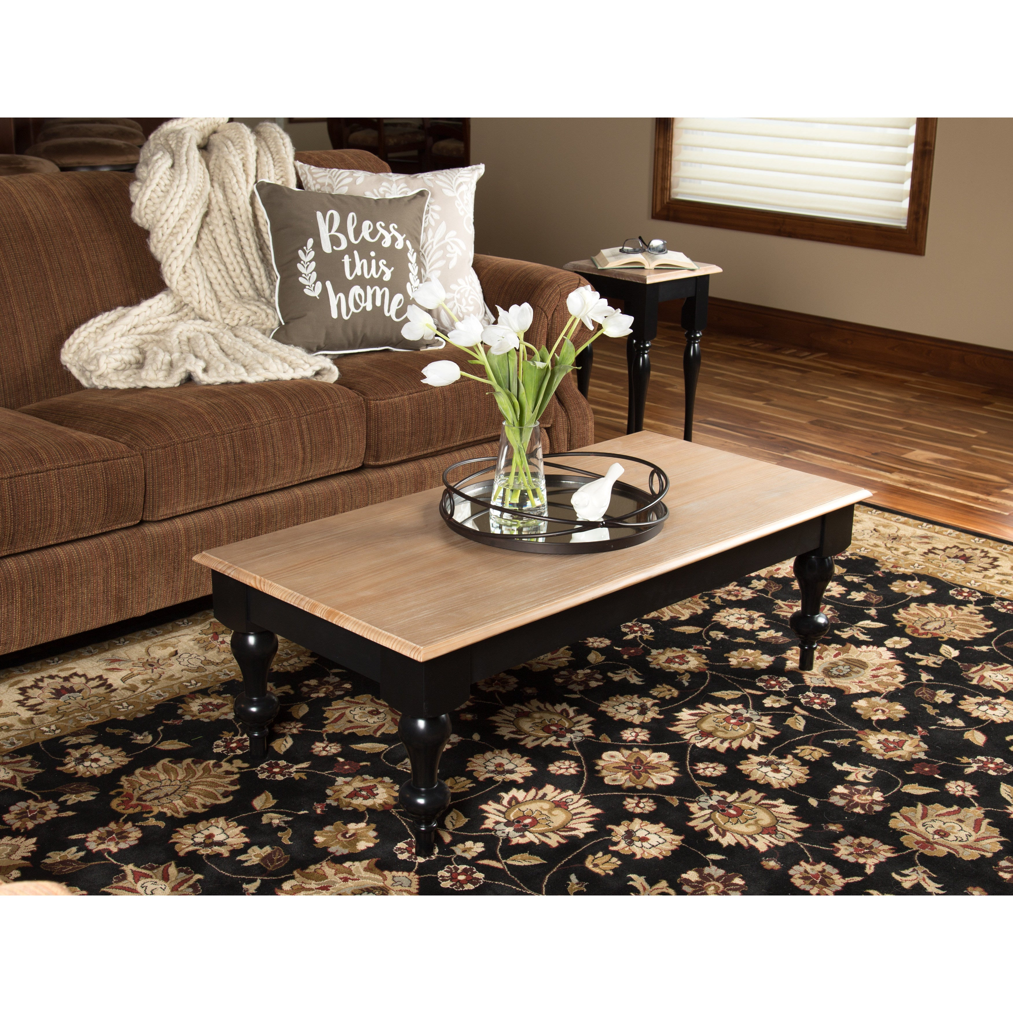 Kate And Laurel Sophia Rustic Wood Top Coffee Table   Free Shipping Today    Overstock.com   21178711