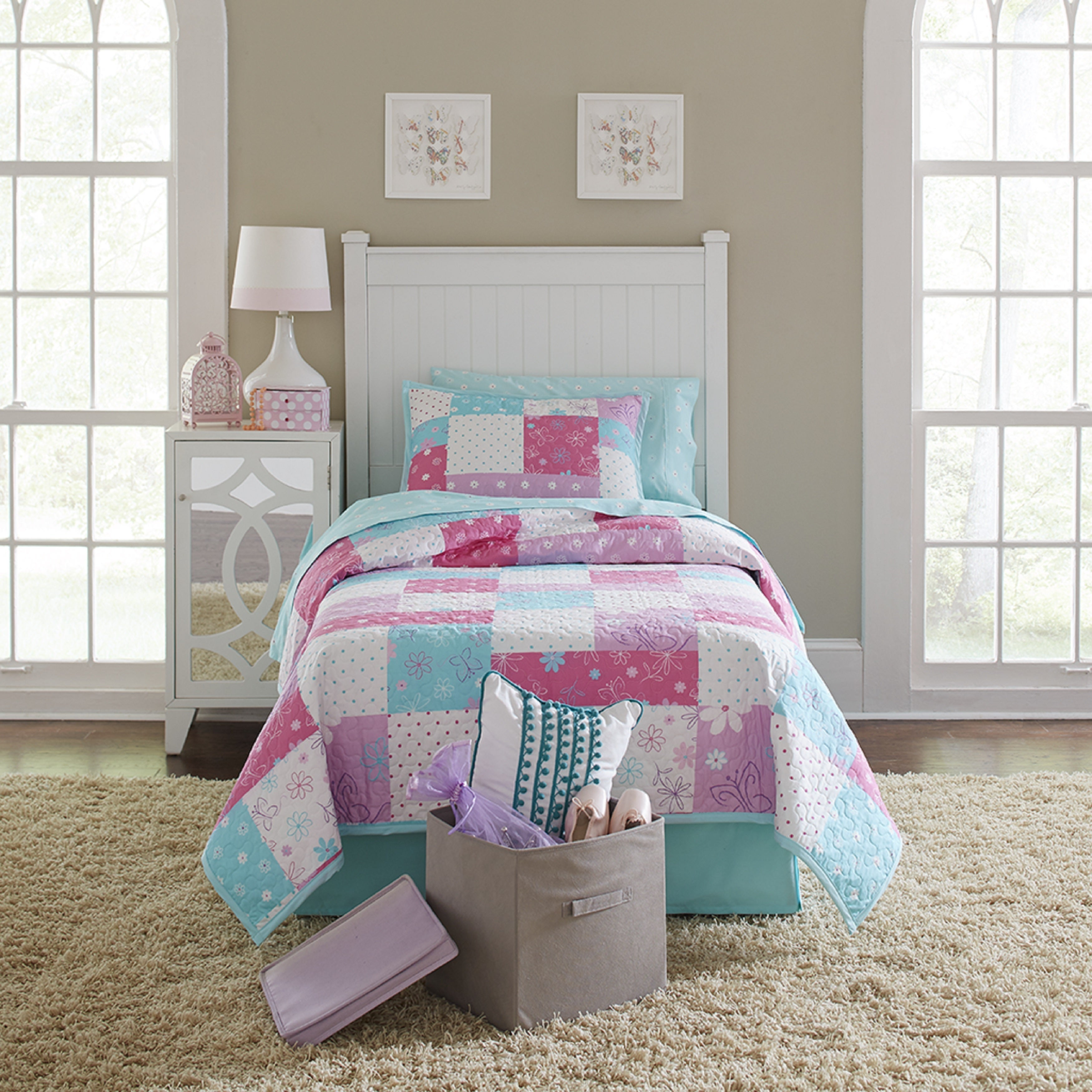 Superieur Lullaby Bedding Butterfly Garden 100% Cotton Printed 3 Piece Quilt Set    Free Shipping Today   Overstock.com   21178747