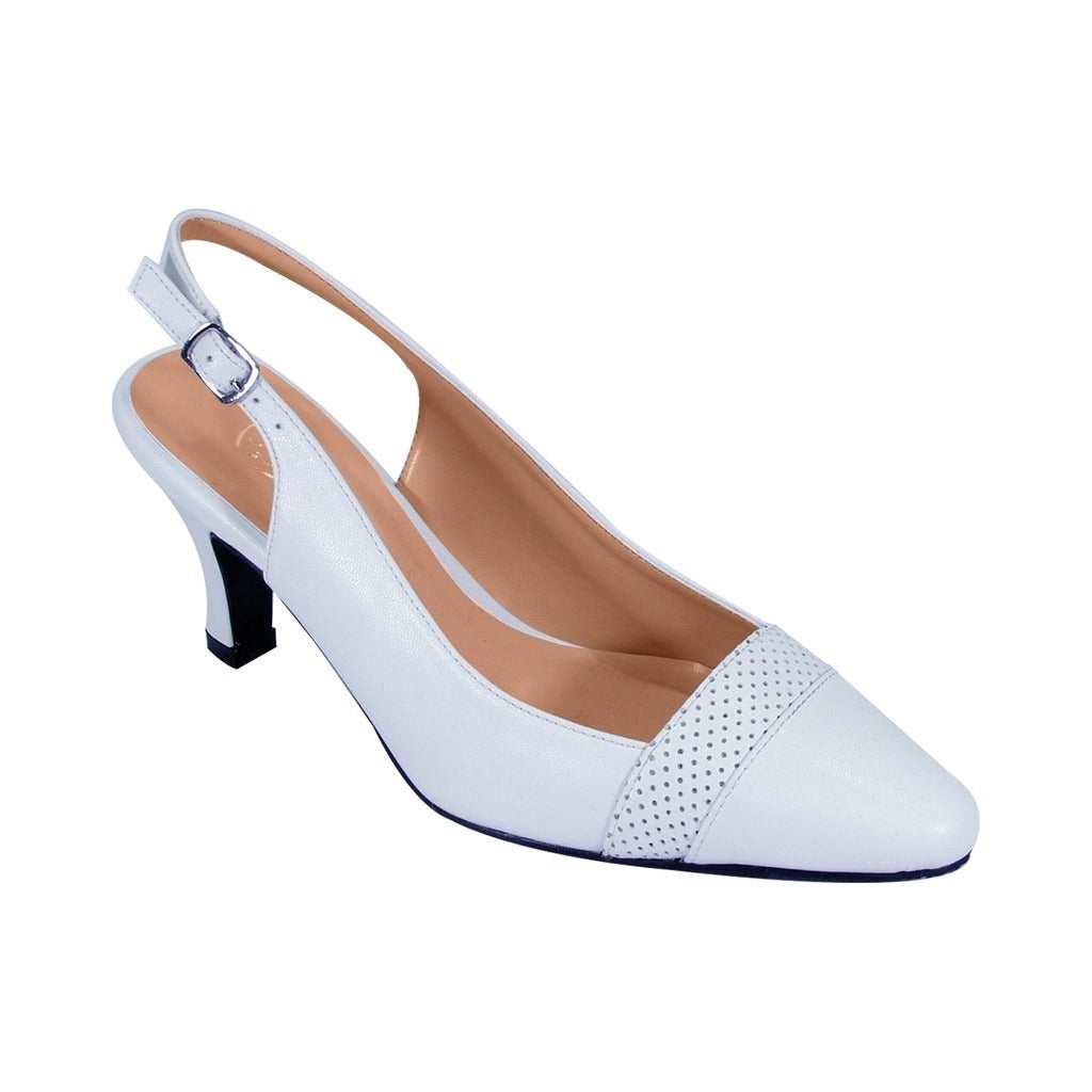 5ac0c27ade6 Shop FIC Women s Peerage Candy Extra Wide Width Classic Pointed Toe Dress  Slingback Shoes - Free Shipping Today - Overstock - 14639633