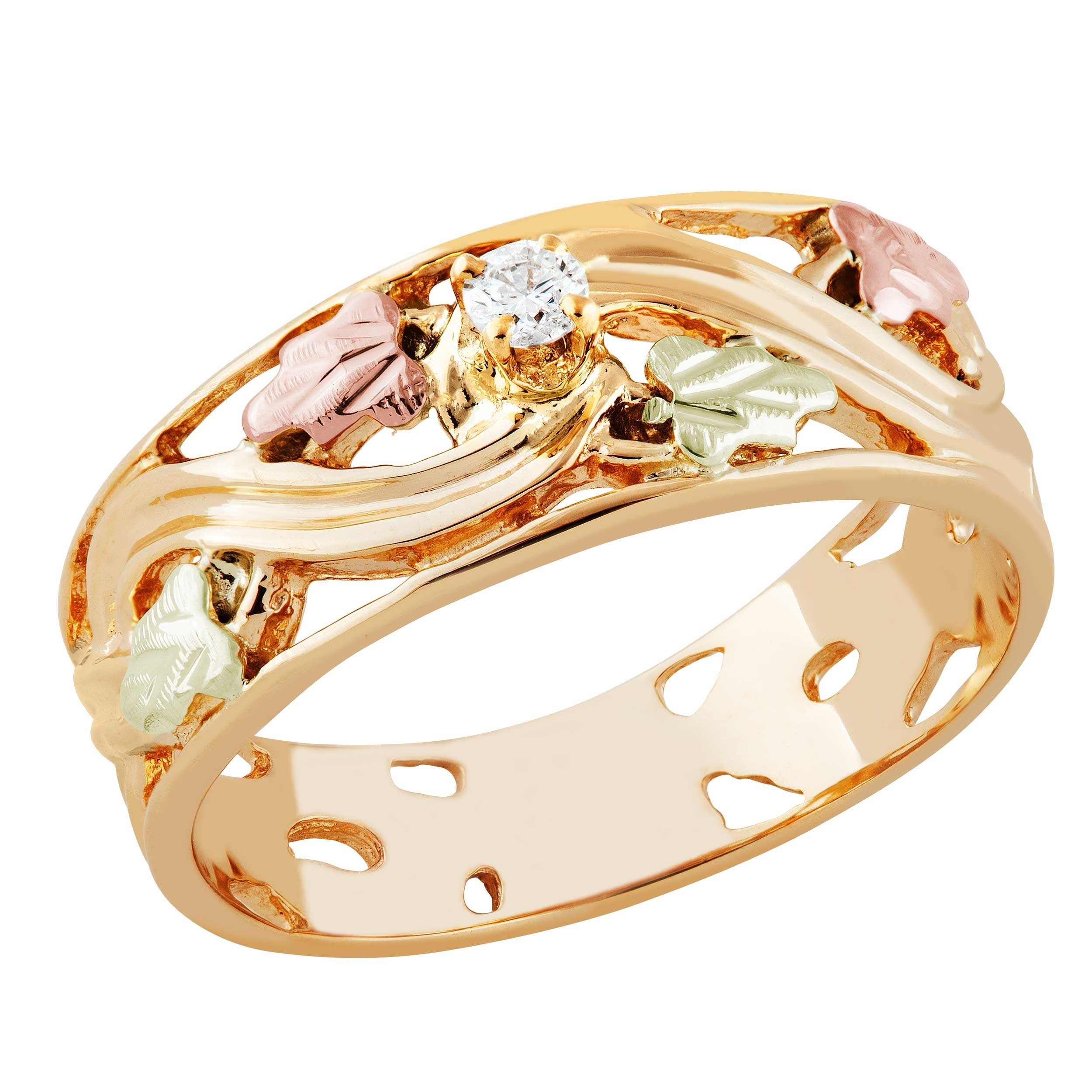 yellow diamond products gold black cut rose ring size cmdshine hills leaf rings