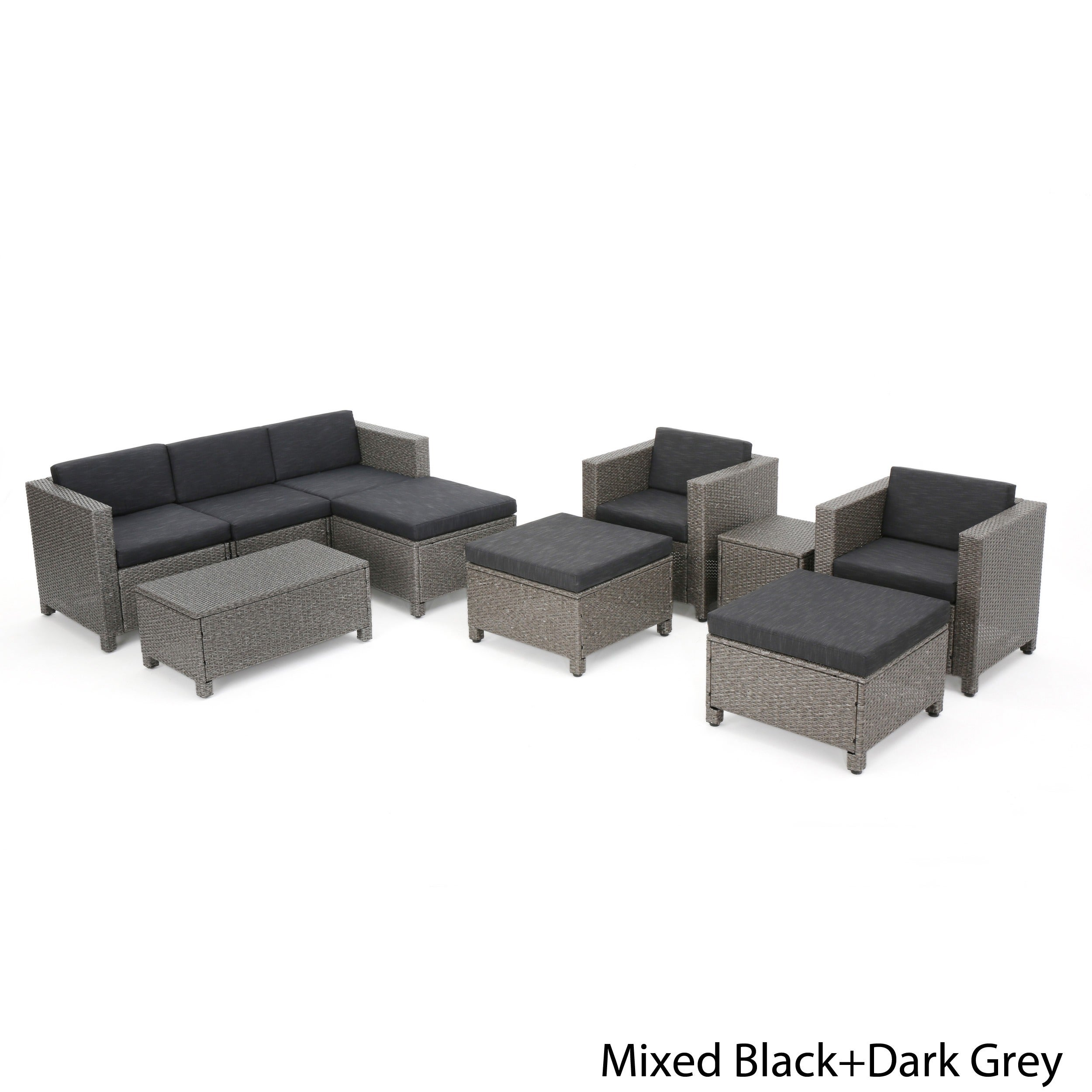 Puerta Outdoor 10-piece Wicker Sofa Set Collection with Cushions ...