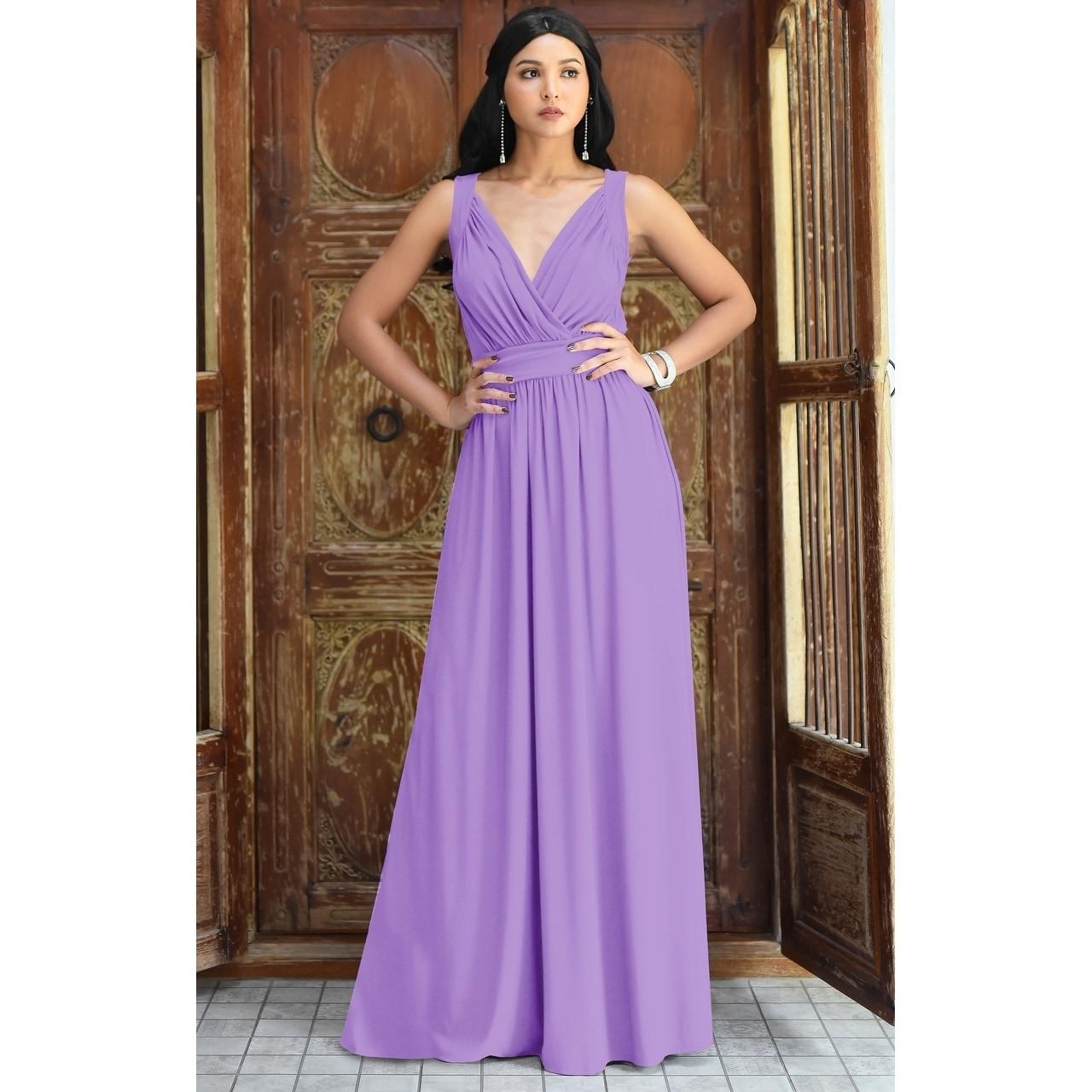 Shop Koh Koh Women\'s Long Ball Gown Sleeveless Formal Maxi Dress ...