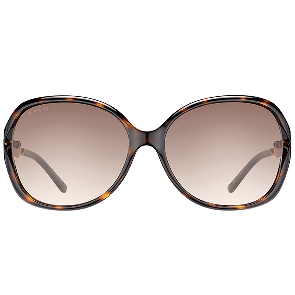 db1bb3a08ac Shop Gucci GG 0076S 003 Havana Gold Plastic Fashion Sunglasses Brown  Gradient Lens - Free Shipping Today - Overstock - 14642336