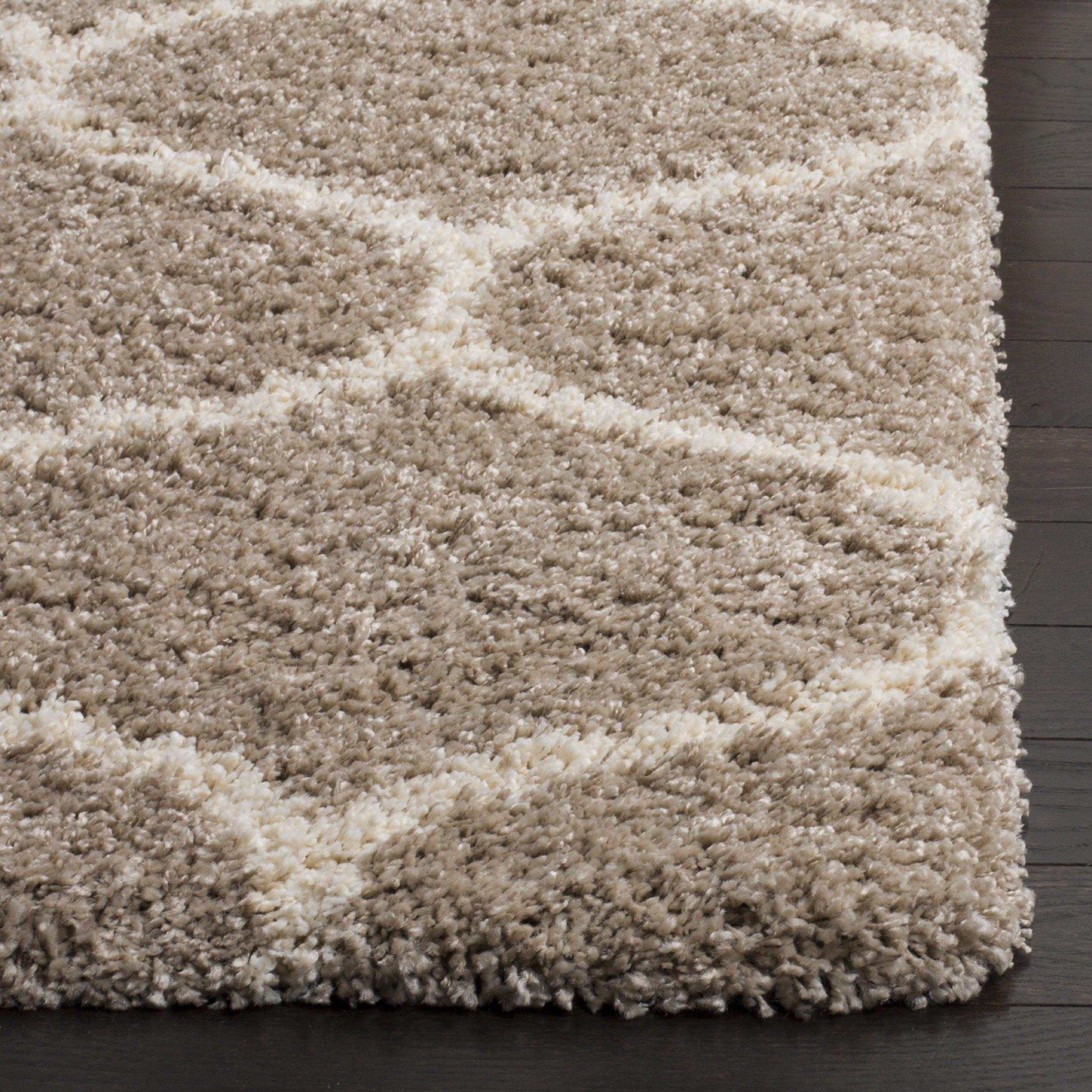 rug ivory shag polyester silken handmade area safavieh x paris glam products