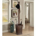 Briarwood Home Decor Wood Coat Rack with Umbrella Stand