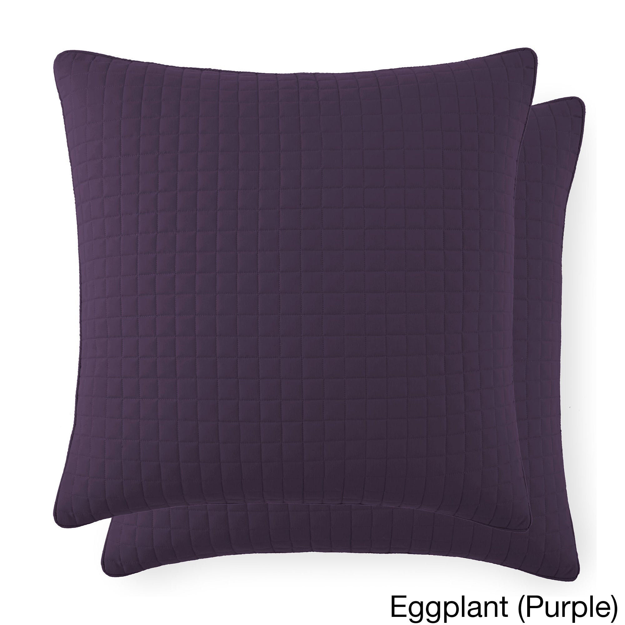 Well-liked Beautiful Square Stitched Quilted Euro Shams Covers (Set of 2) by  OQ82