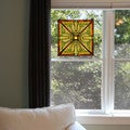 River of Goods Craftsman-style Forest Colors Stained Glass 18-inch H Square Window Panel - 18""