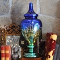 Tracy Porter 'Poetic Wanderlust' Blue/Teal Mercury Glass 20.5-inch High Meadowlark Ginger Jar with LED Lights