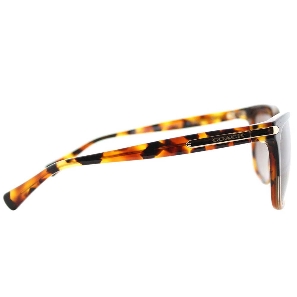 1fb41327ed Shop Coach HC 8132 5438T5 L109 Black Tortoise Plastic Cat-Eye Sunglasses  Brown Gradient Polarized Lens - Free Shipping Today - Overstock - 14658269