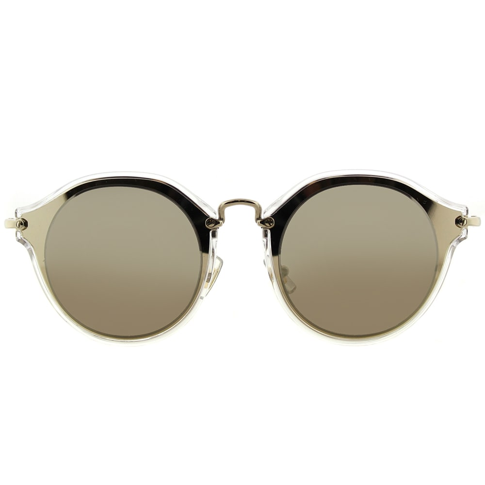 baeec92e93cb Shop Miu Miu MU 51SS ZVN1C0 Pale Gold Plastic Cat-Eye Sunglasses Gold  Mirror Lens - On Sale - Free Shipping Today - Overstock - 14658279
