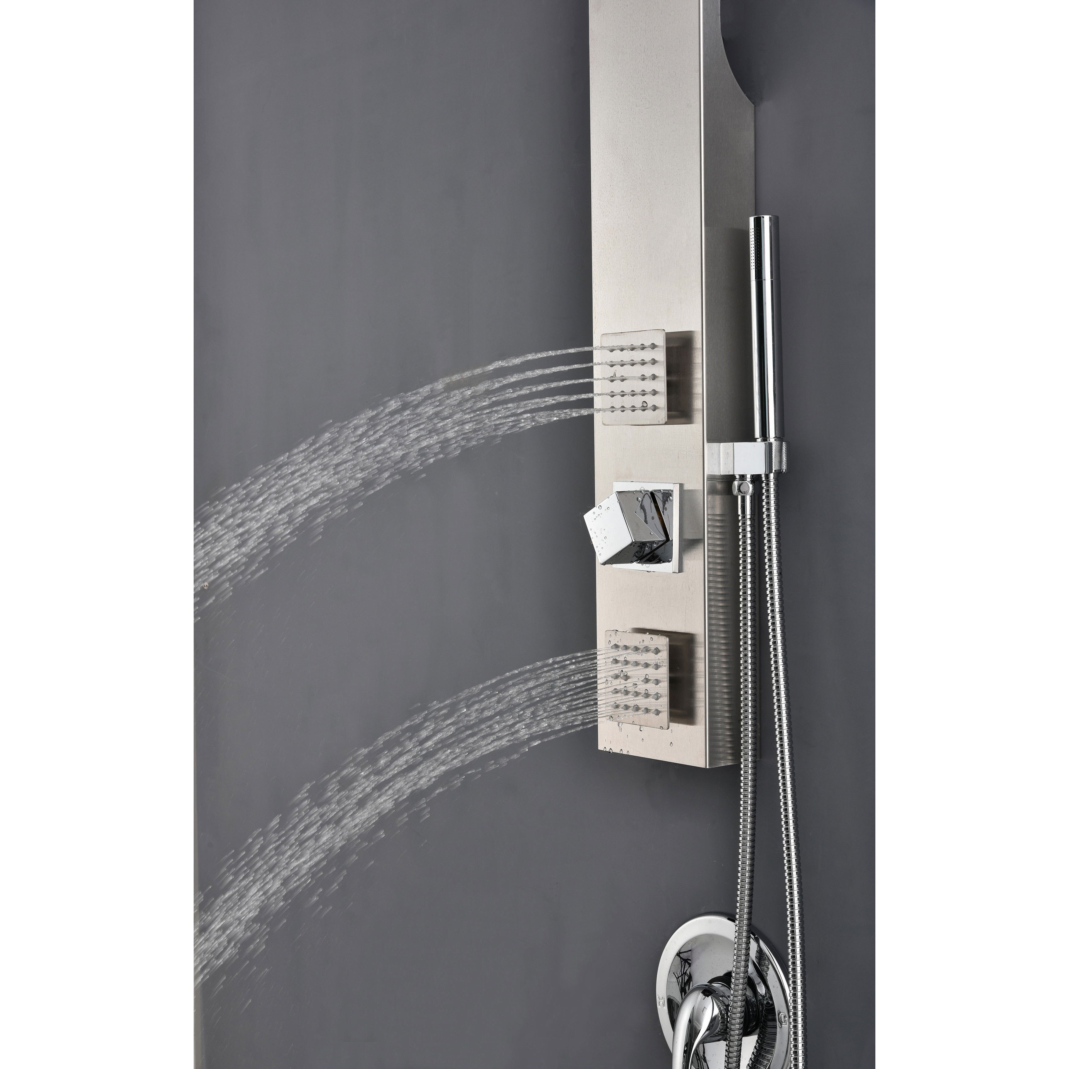 bathroom panel satin pvd function kit faucets complete shower american system hand standard