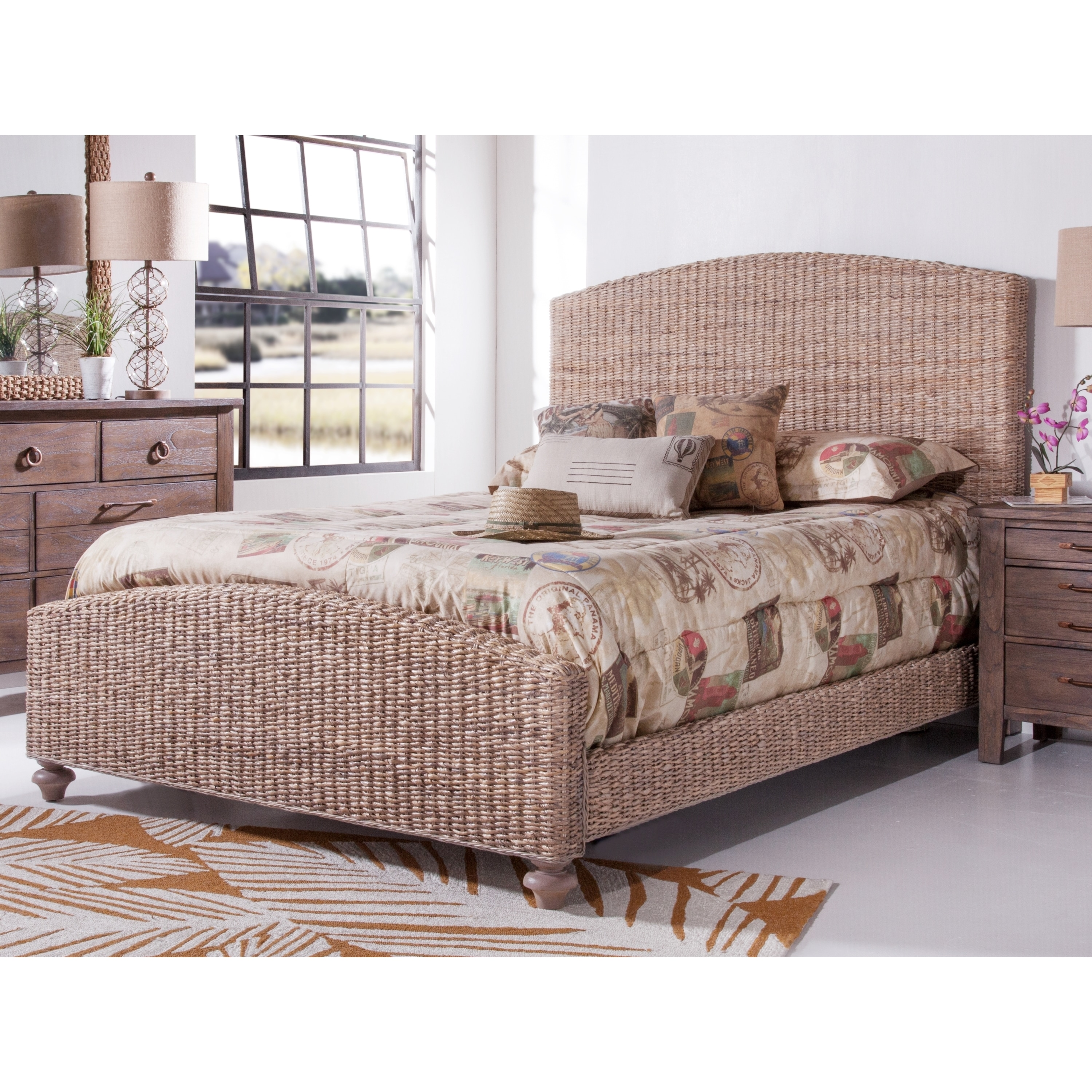 Shop Driftwood Woven Bed By Panama Jack Free Shipping Today - Panama jack bedroom furniture