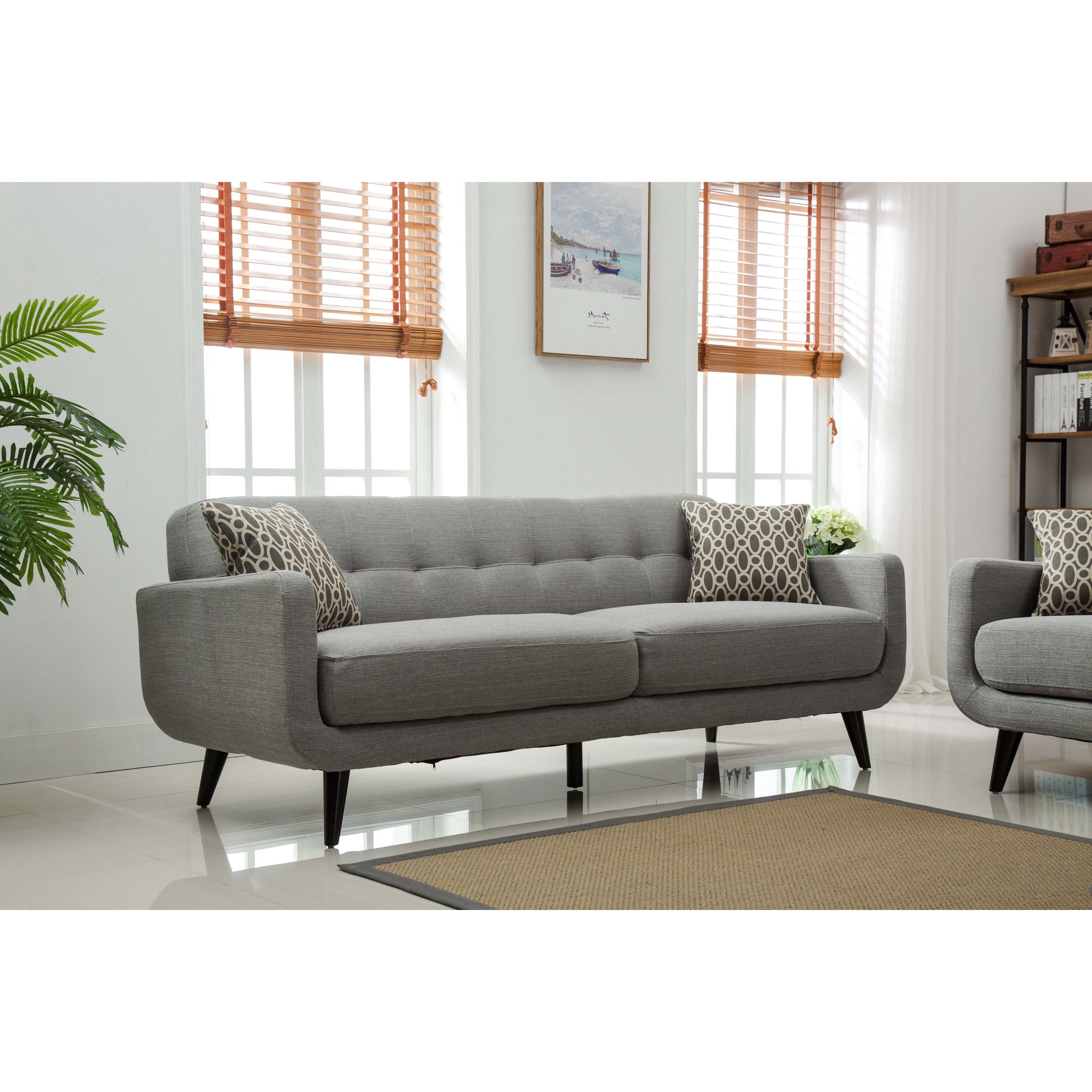 Modibella Contemporary Tufted 2-Piece Sofa and Loveseat Set - Free ...