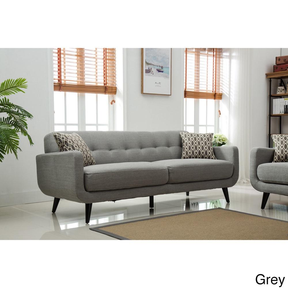 Tufted Sofa Set Acme Teal Polished Velvet Button Tufted Sofa Set ...
