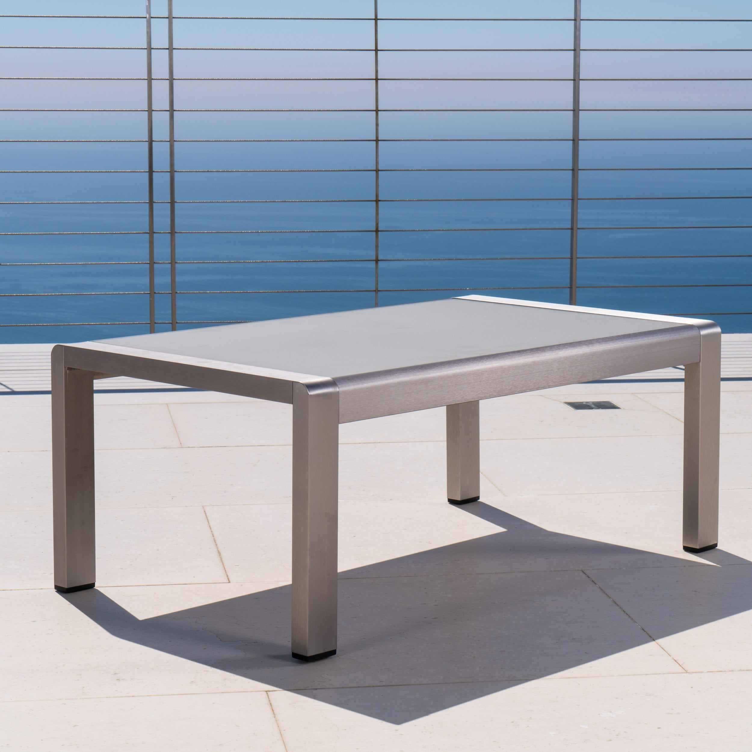 Cape C Outdoor Aluminum Coffee Table By Christopher Knight Home Free Shipping Today 21210164