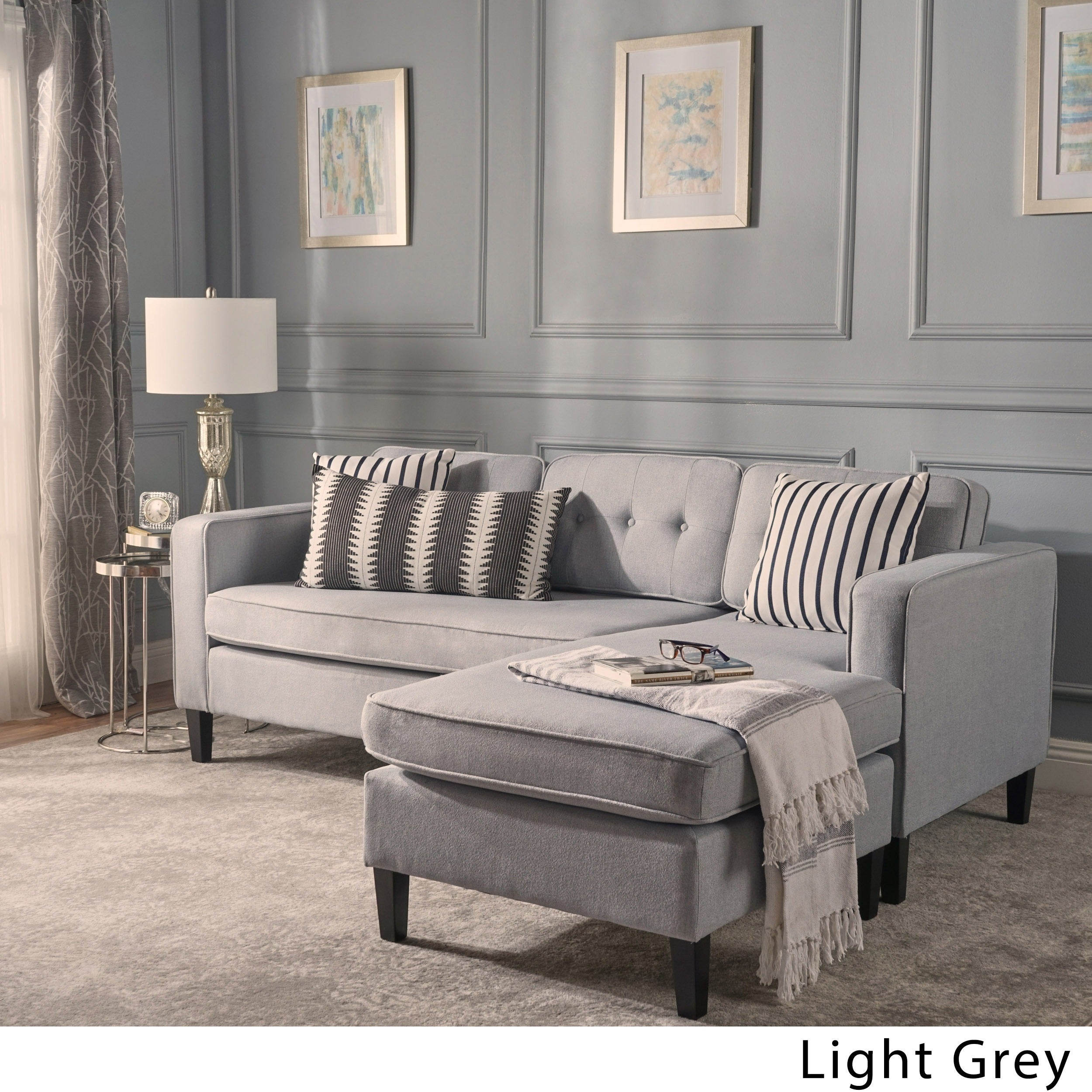 light tambo open sectional pewter grey living sectionals coleman furniture reclining htm