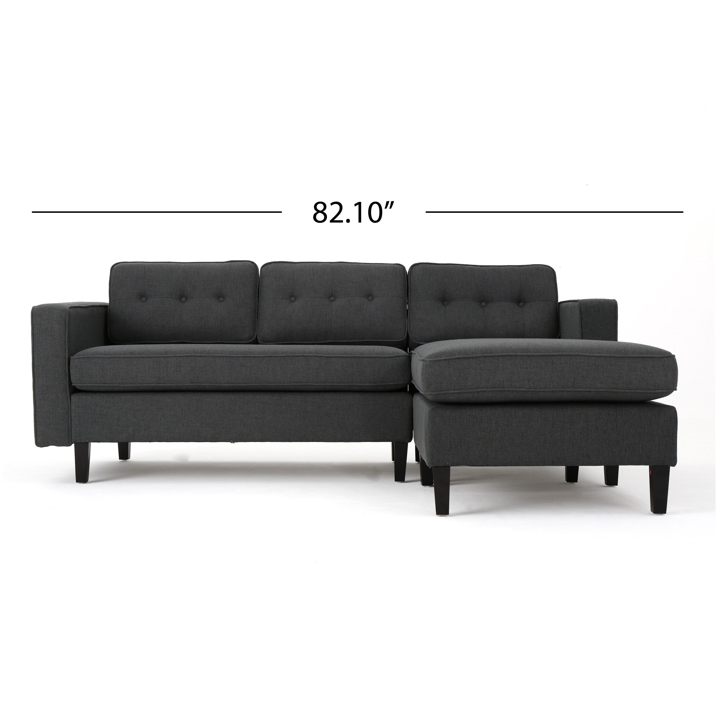 Shop Wilder Mid Century Modern 2 Piece Fabric Chaise Sectional Sofa By  Christopher Knight Home   On Sale   Free Shipping Today   Overstock.com    14675119