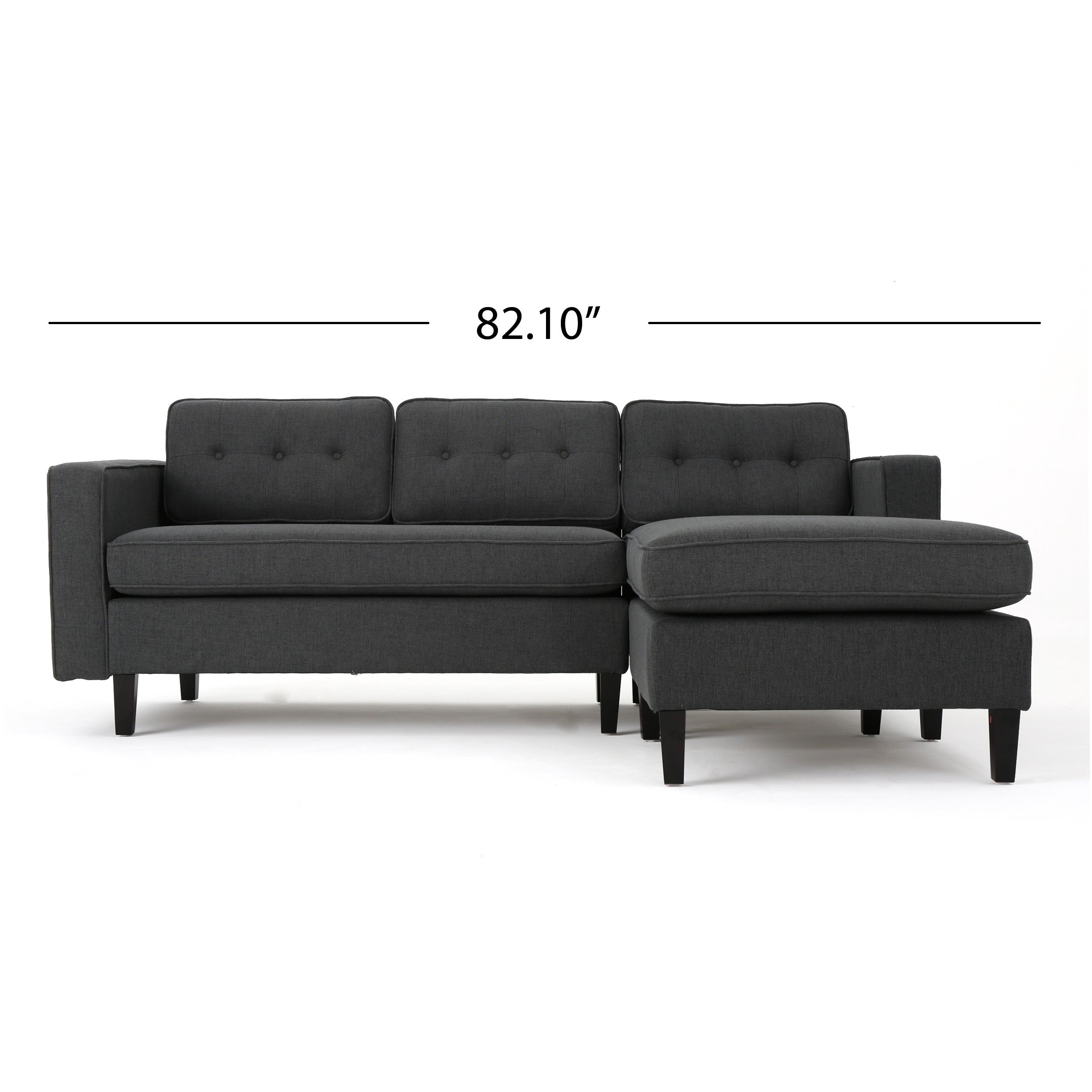 Wilder Mid Century Modern 2 Piece Fabric Chaise Sectional Sofa By Christopher Knight Home On Free Shipping Today 14675119