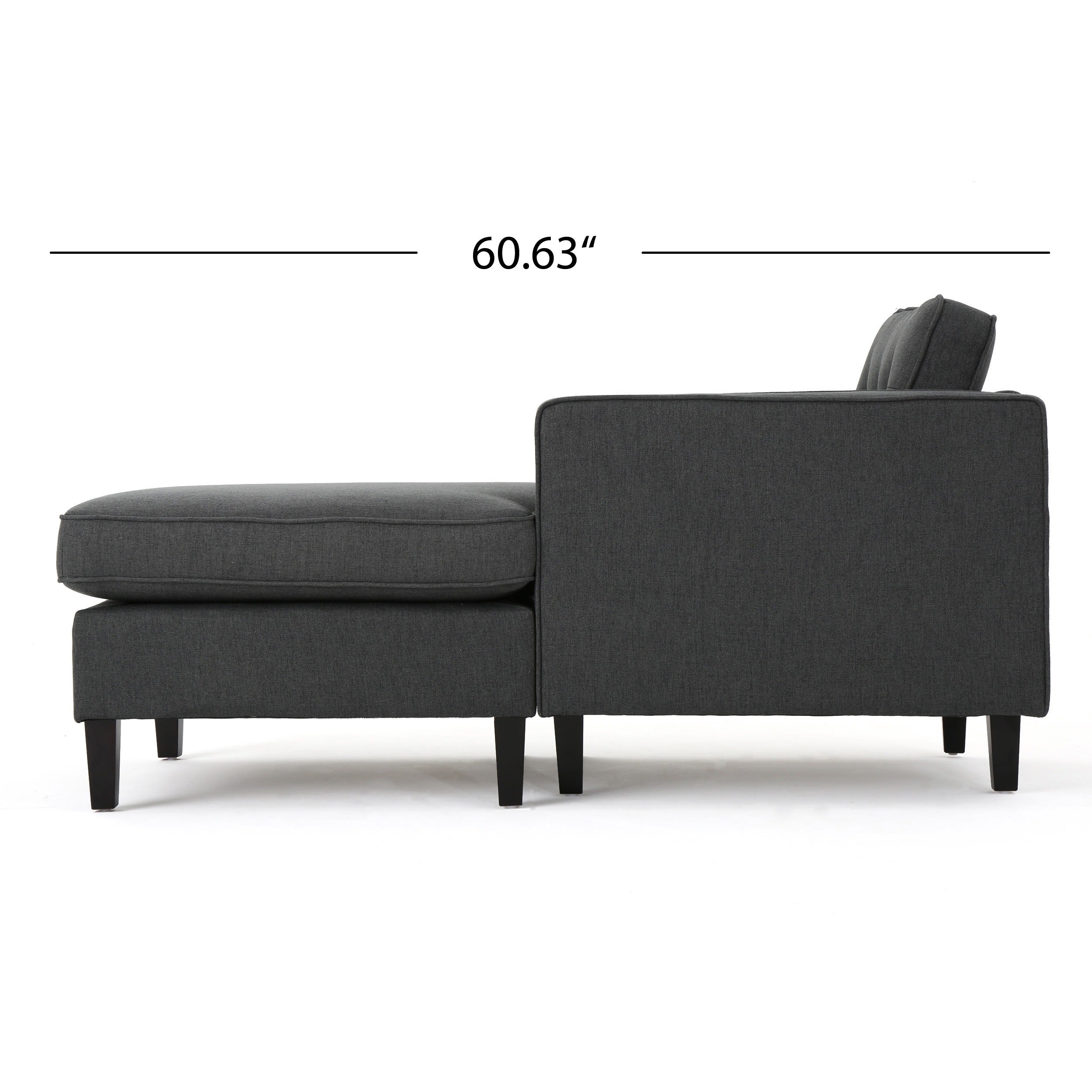 Shop Wilder Mid-century Modern 2-piece Fabric Chaise Sectional Sofa ...
