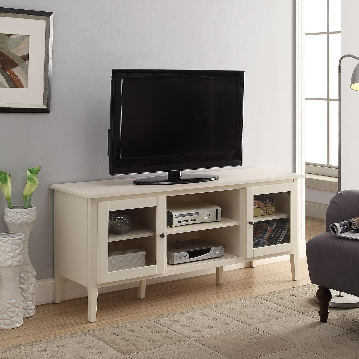 Shop Briarwood Home Decor Wood 52 Inch Tv Stand Free Shipping