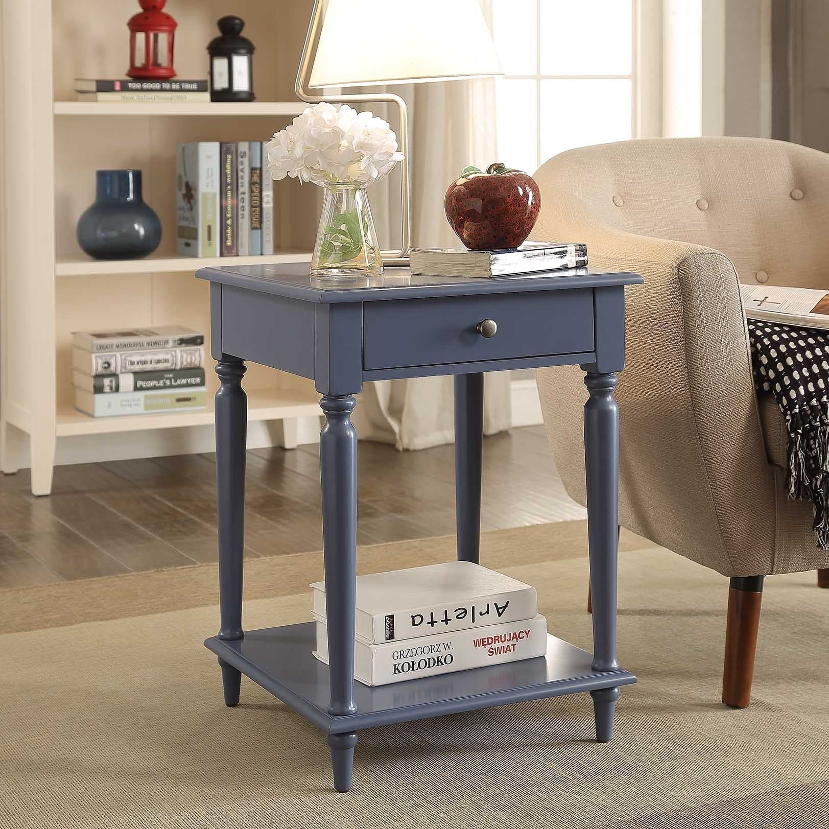 Briarwood Home Decor Painted Wood End Table   Free Shipping Today    Overstock   21211221