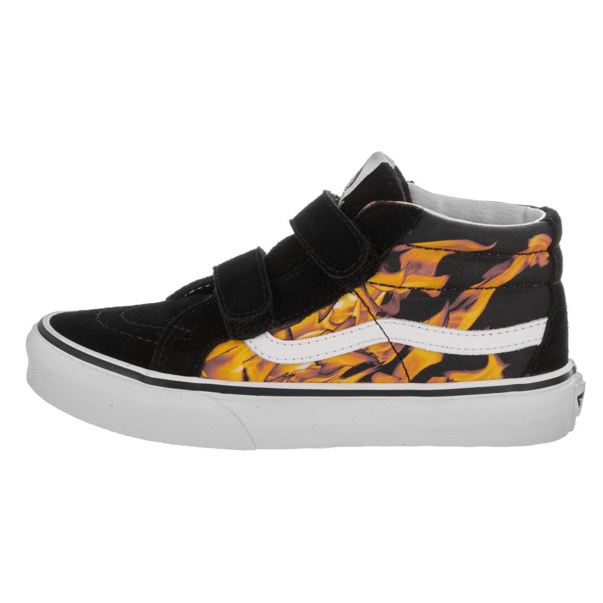 bb3dbeee44 Shop Vans Kids Sk8-Mid Reissue V (Digi Flame) Skate Shoe - Free Shipping On  Orders Over  45 - Overstock - 14676658