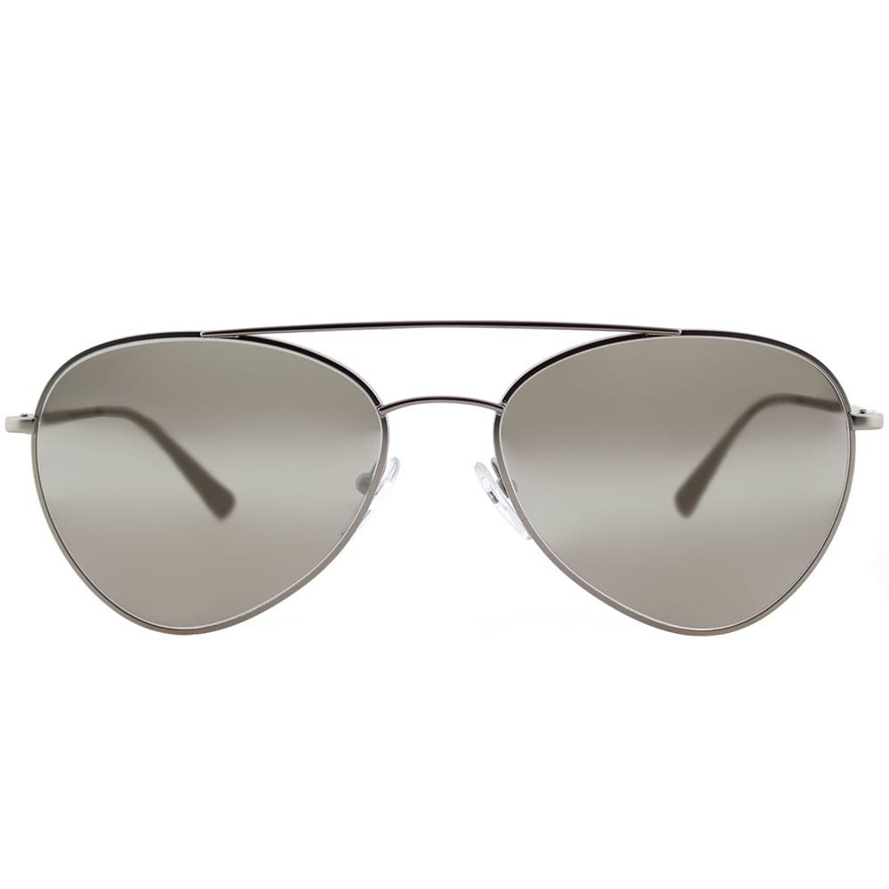 ade85b3db5 Shop Prada Linea Rossa PS 50SS 1AP2B0 Pilot Matte Silver Metal Aviator  Sunglasses Silver Mirror Lens - Free Shipping Today - Overstock - 14677305