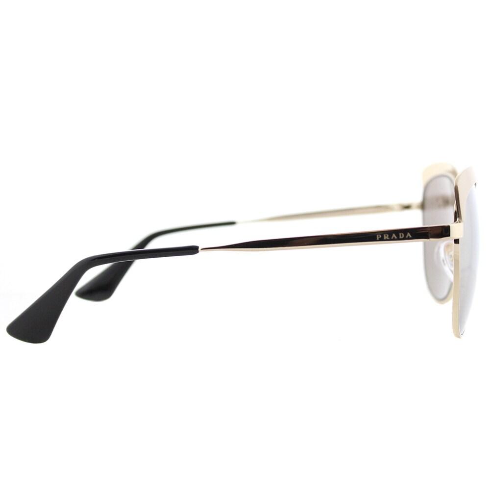 ef24abb5db50 Shop Prada PR 51TS VAQ1C0 Metalized Pale Gold Metal Square Sunglasses Gold  Mirror Lens - Free Shipping Today - Overstock - 14677307