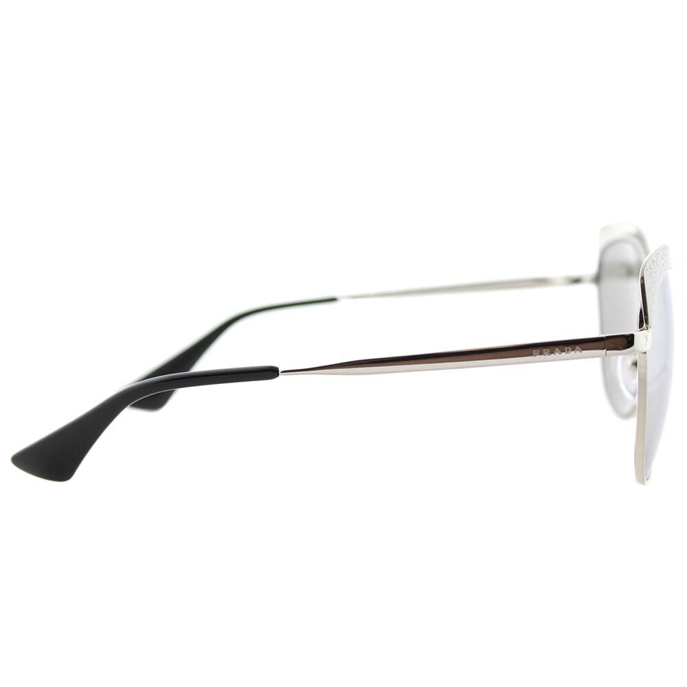 371442a2b Shop Prada PR 51TS VAR2B0 Metallized Silver Metal Square Sunglasses Silver  Mirror Lens - Free Shipping Today - Overstock - 14677310
